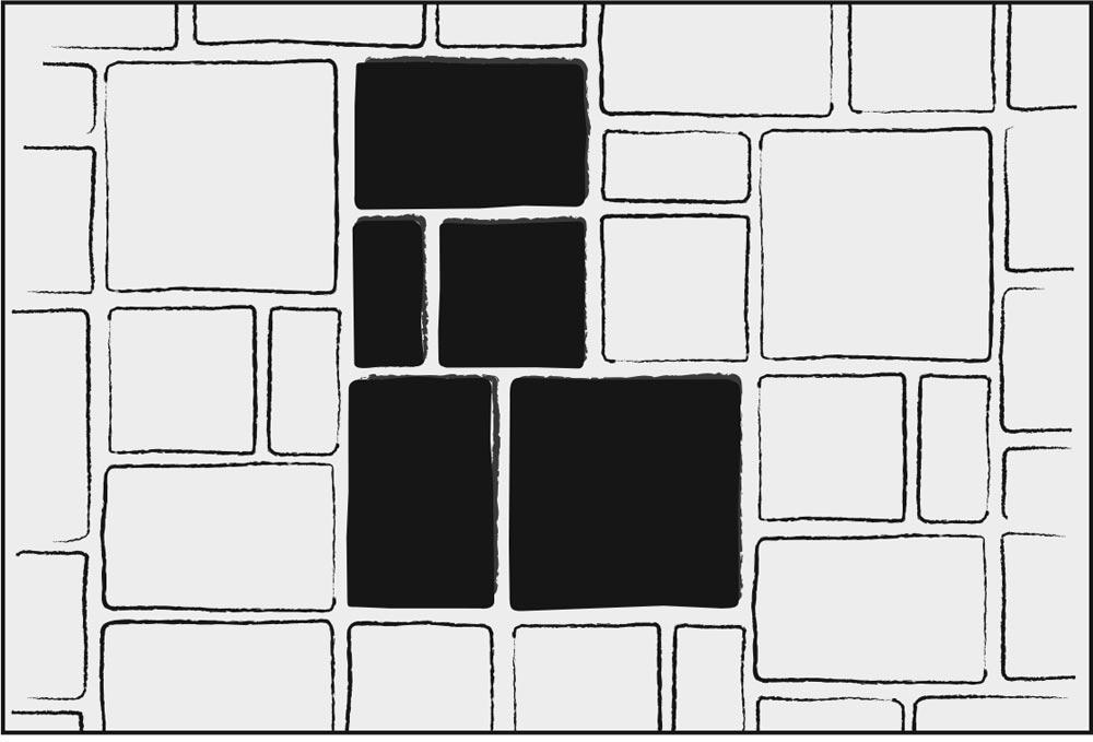 - 3 Piece & Large Square - Pattern B