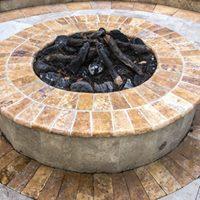 Travertine Gas Burning Fire Pit Design