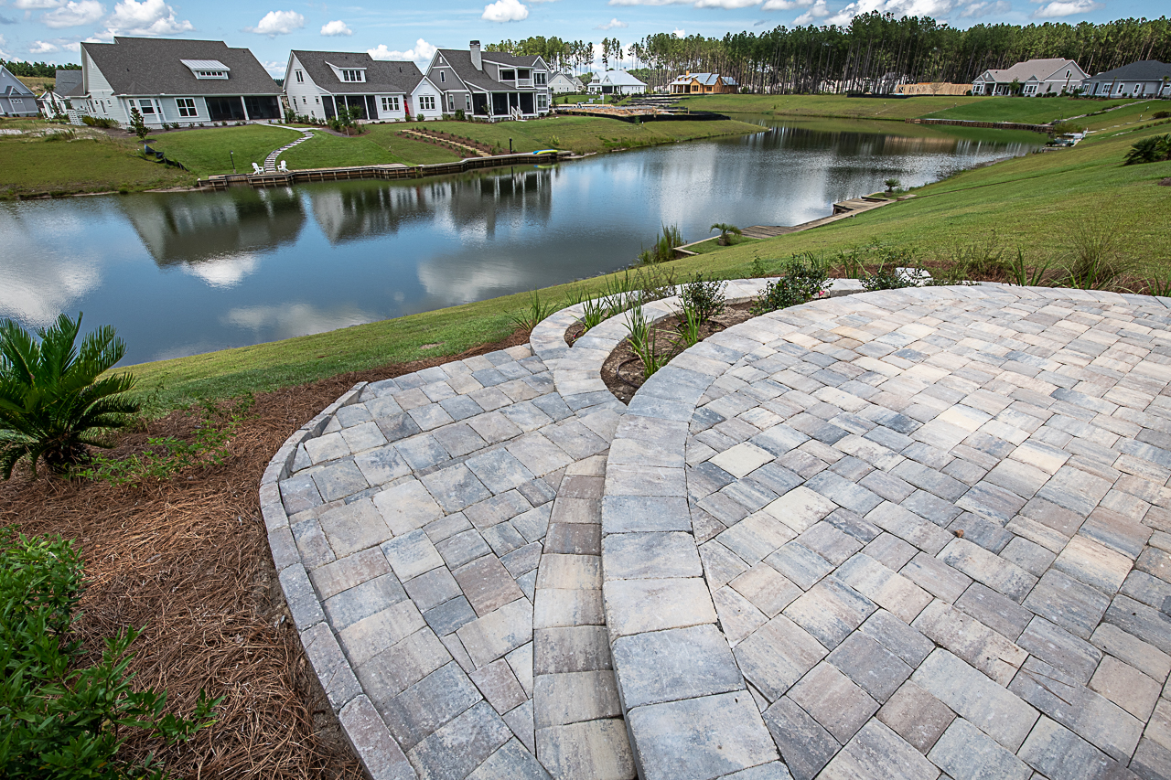 Paver Steps, Retaining Walls and Paver patio