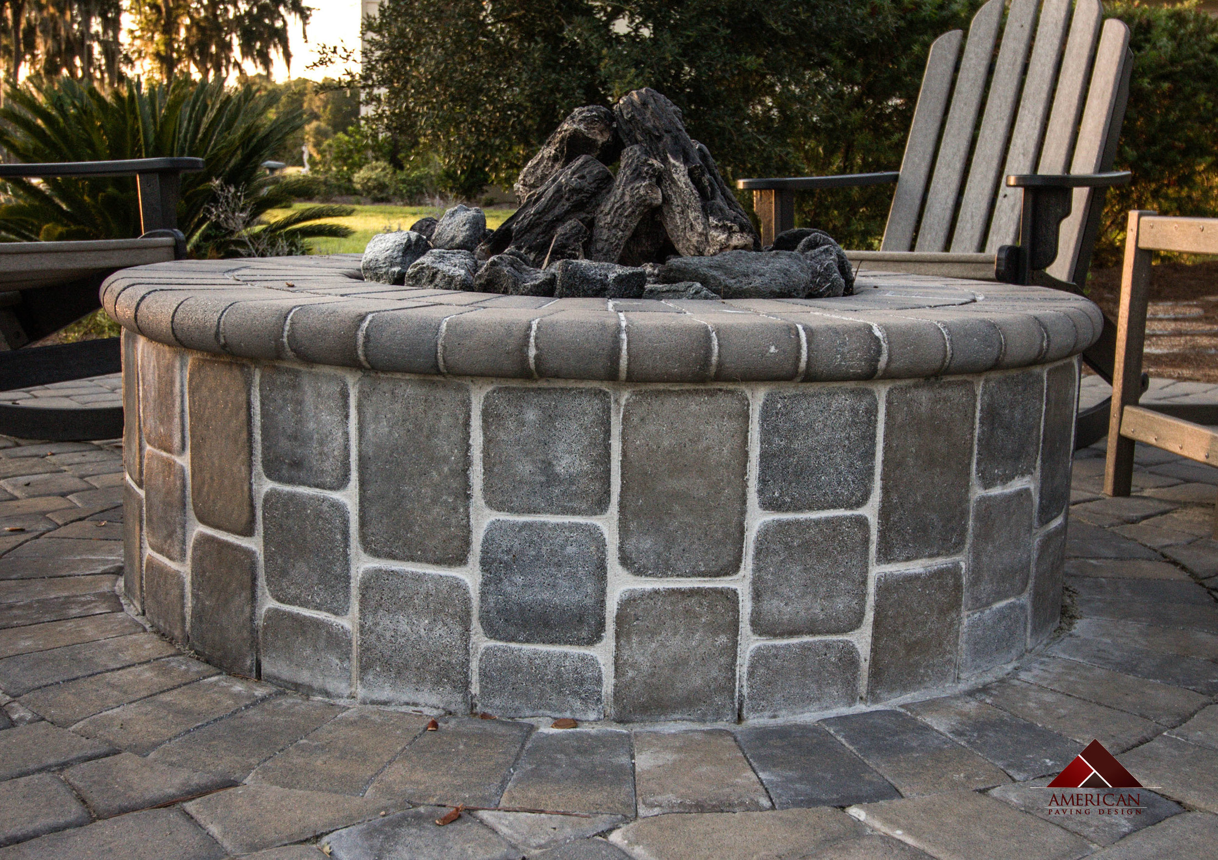 Outdoor Patio Fire Pit Picture - Wood Burning