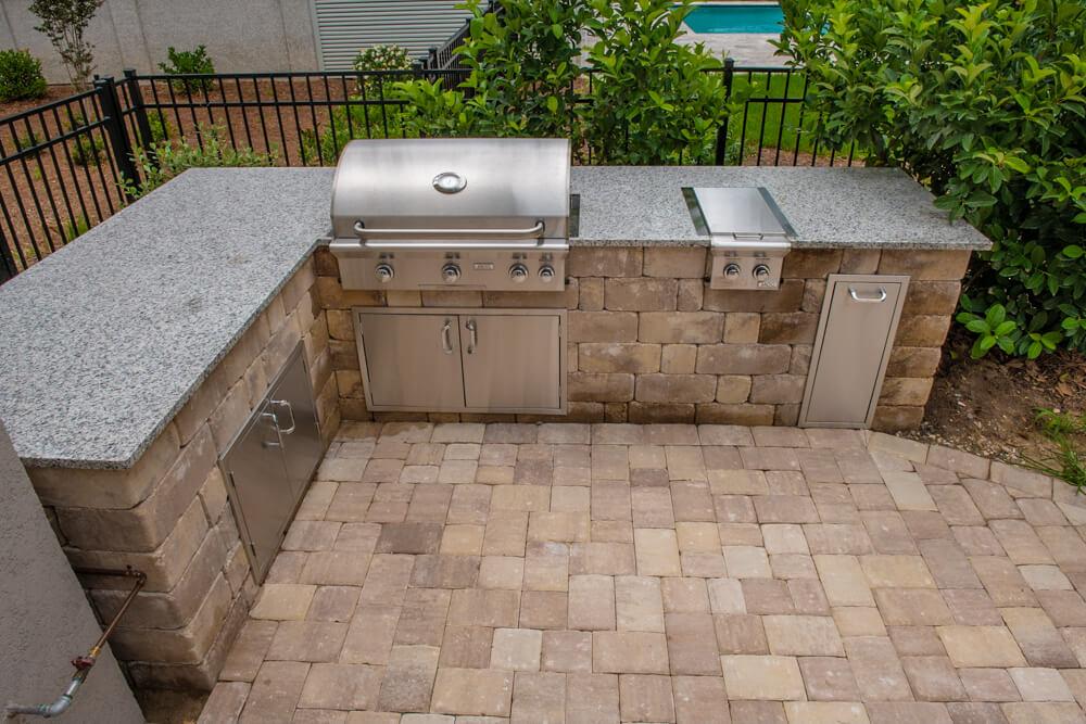 Paver Outdoor Kitchen Design Beaufort, SC