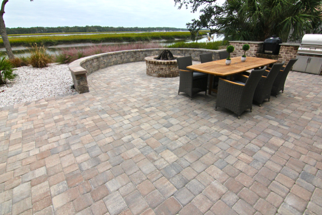 Paver Patio and Seating Wall Design, Hilton Head Island, SC