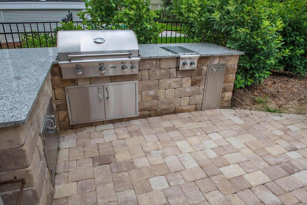Built-In Brick Paver Kitchen- Savannah, GA