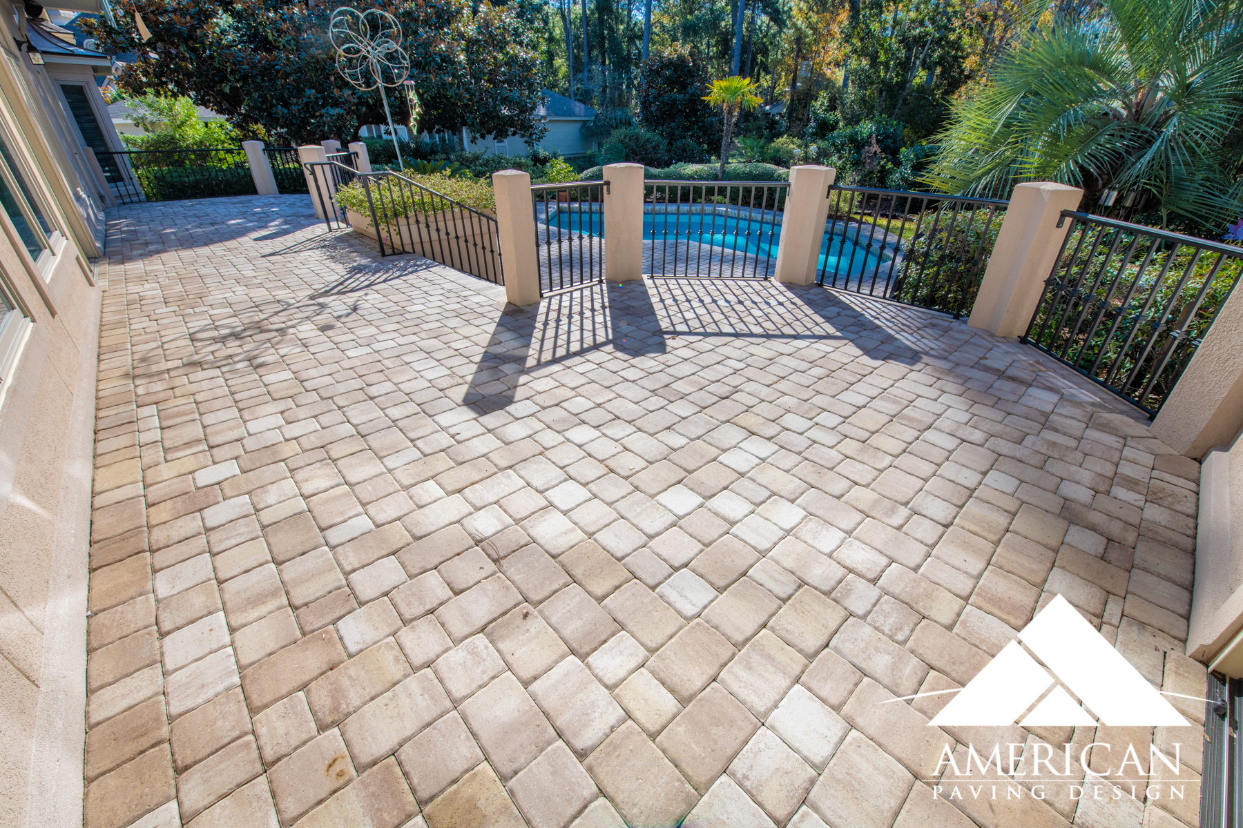 Create A Safe Non-Slip Surface Along Side Your Pool. Overlaying Your Pool Deck With Brick Pavers Ensures Safety & Appeal All In One!