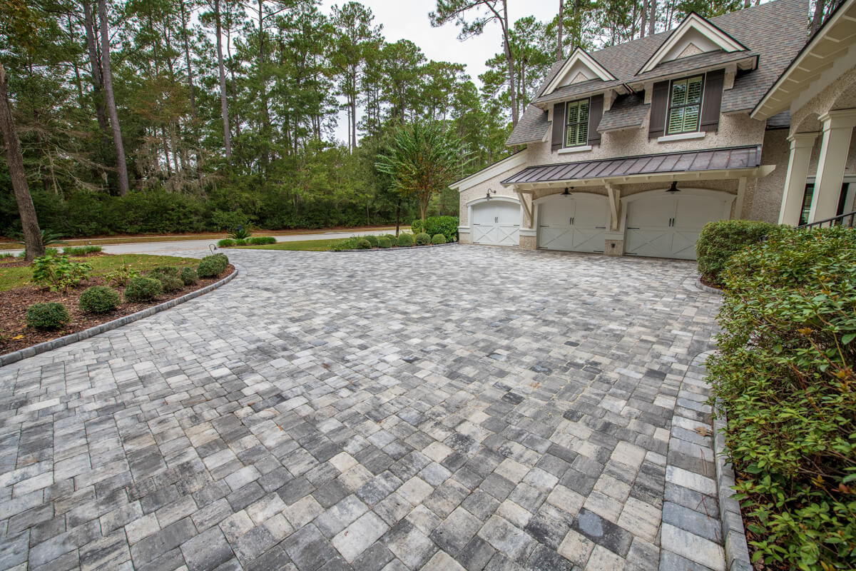 Grey Brick Paver Driveway Ideas - Beaufort, SC