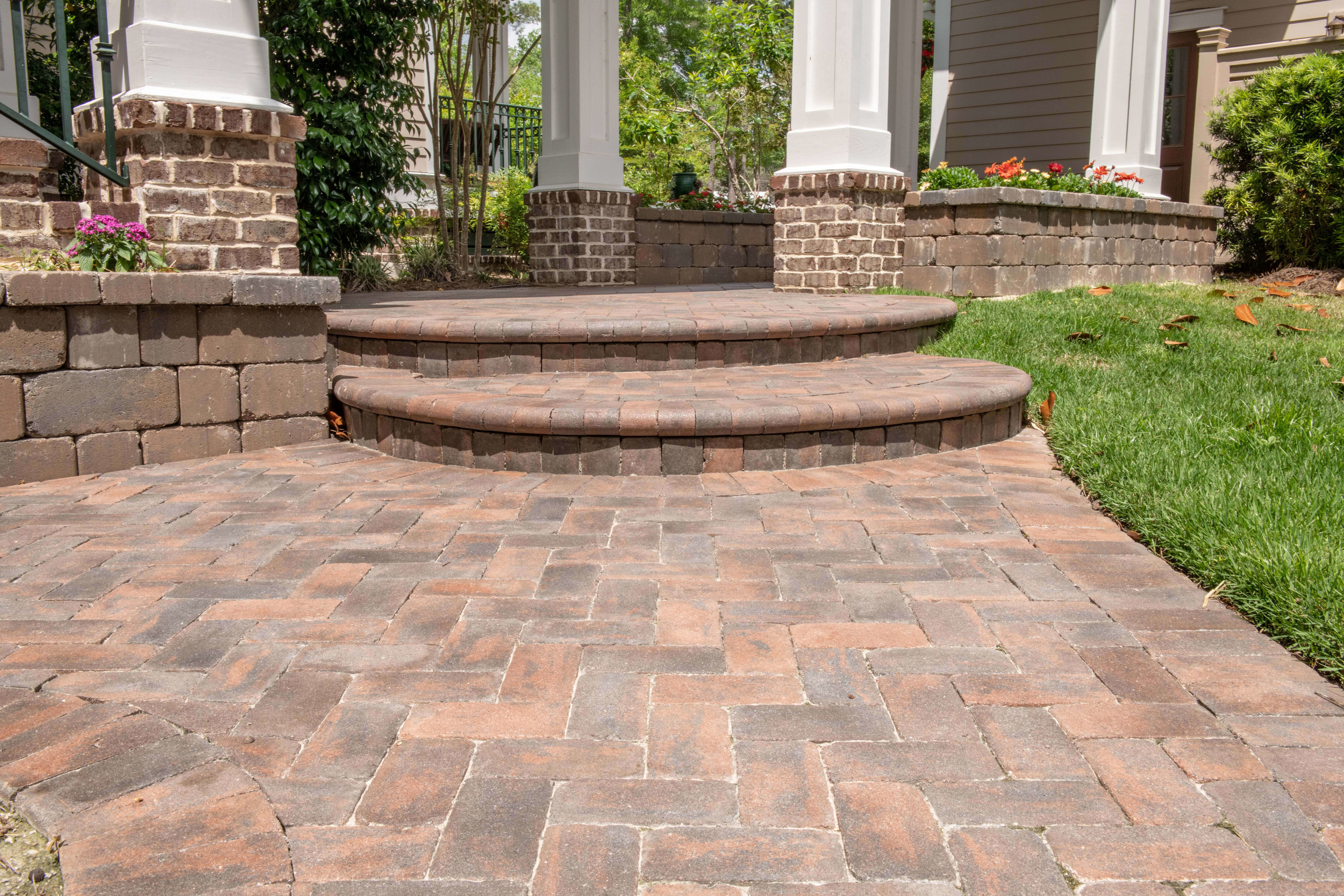 Red Brick Paver Steps - Hilton Head Island, SC