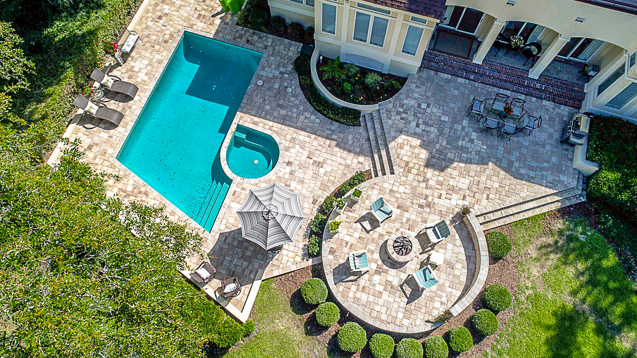 Backyard Paver Pool Deck & Patio Transformation Using Pavers