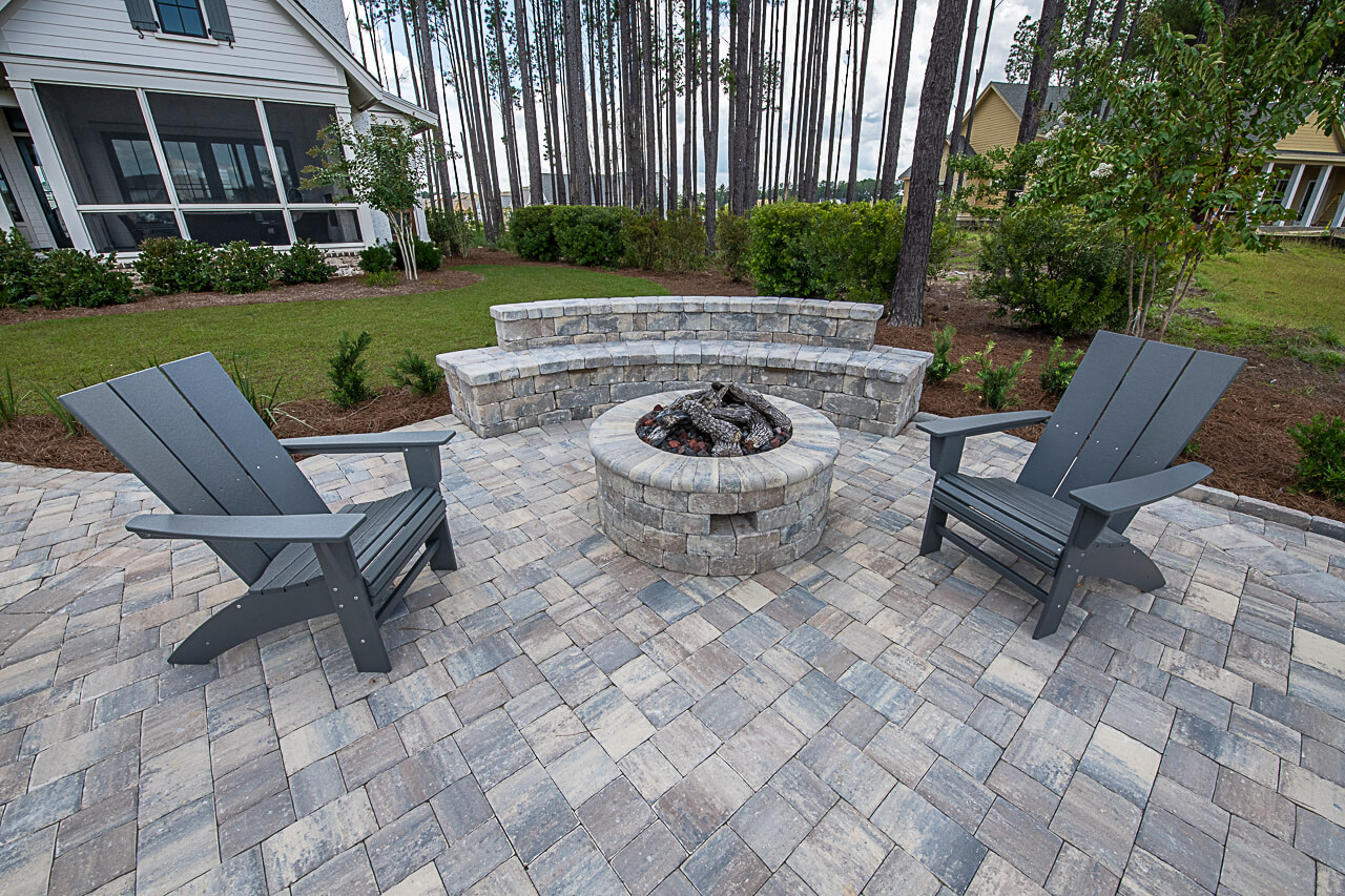 Brick Paver Patio With Seating Wall - This Tremron, Sierra, 3pc Paver Patio and Seating Wall is the perfect way to entertain and relax with family and friends!