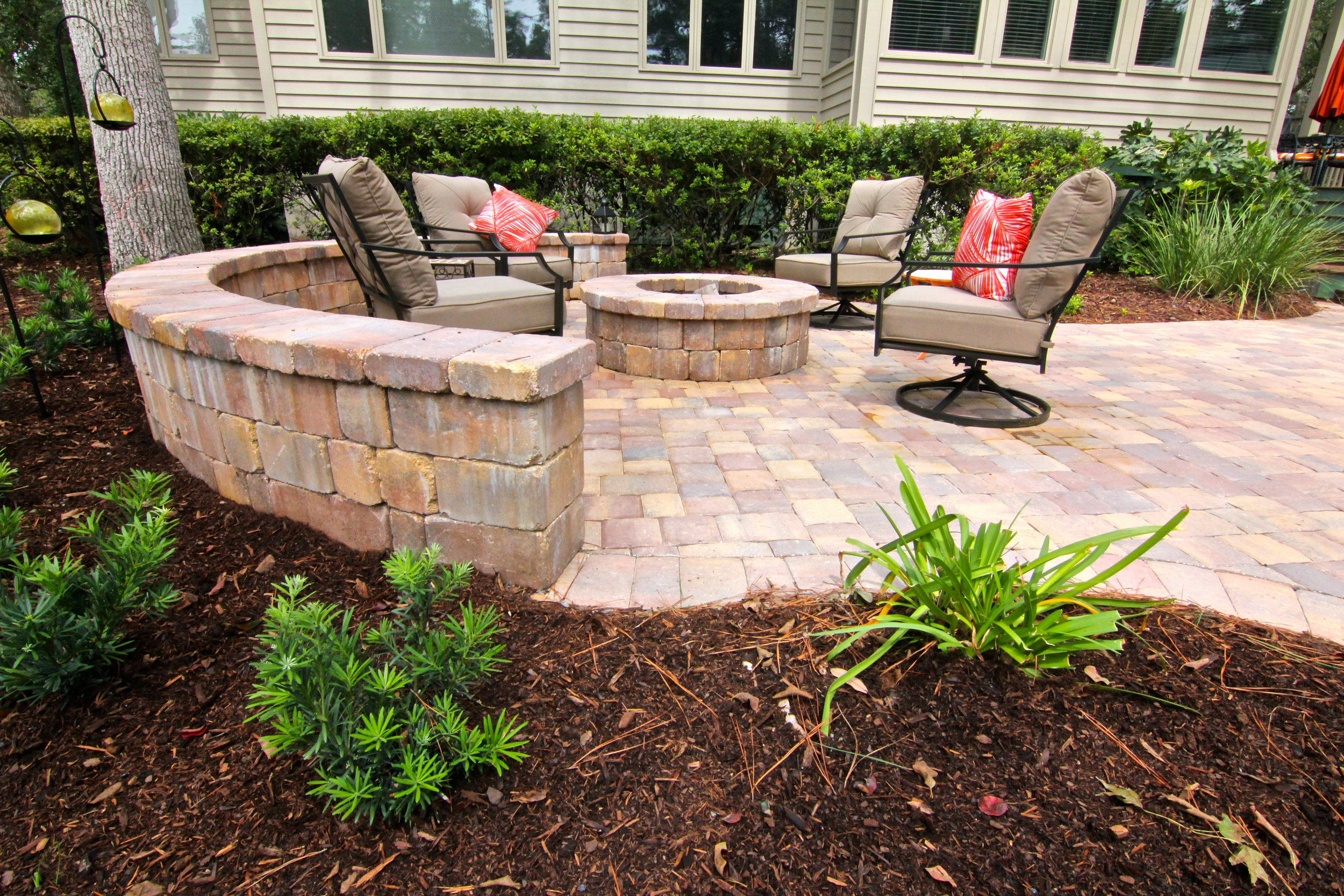 Tremron, Autumn Blend Paver Patio Design