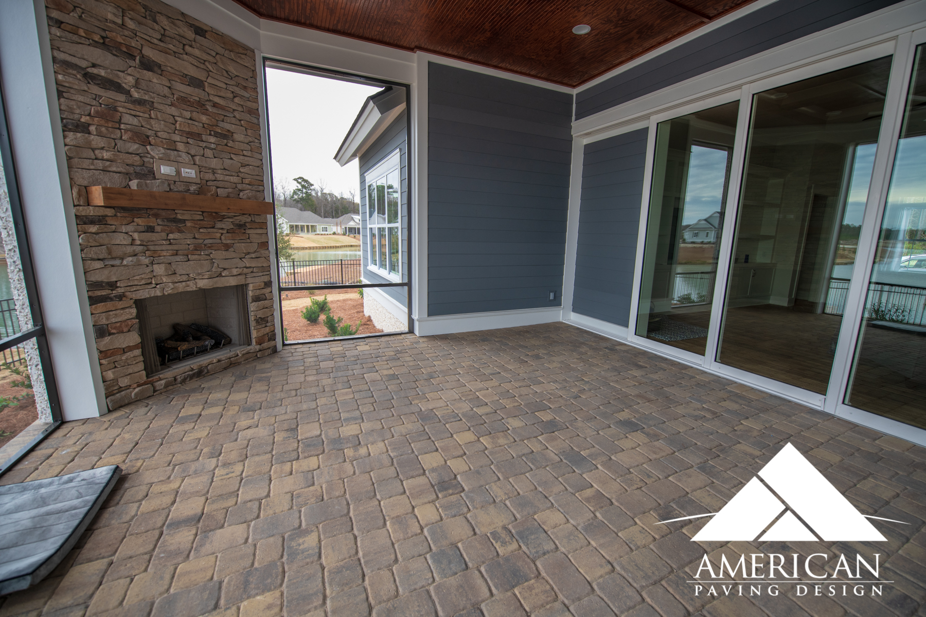 "Indoor Lanai Space Designed Using Tremron's 1"" Thin Remodel Pavers - Bluffton, South Carolina"