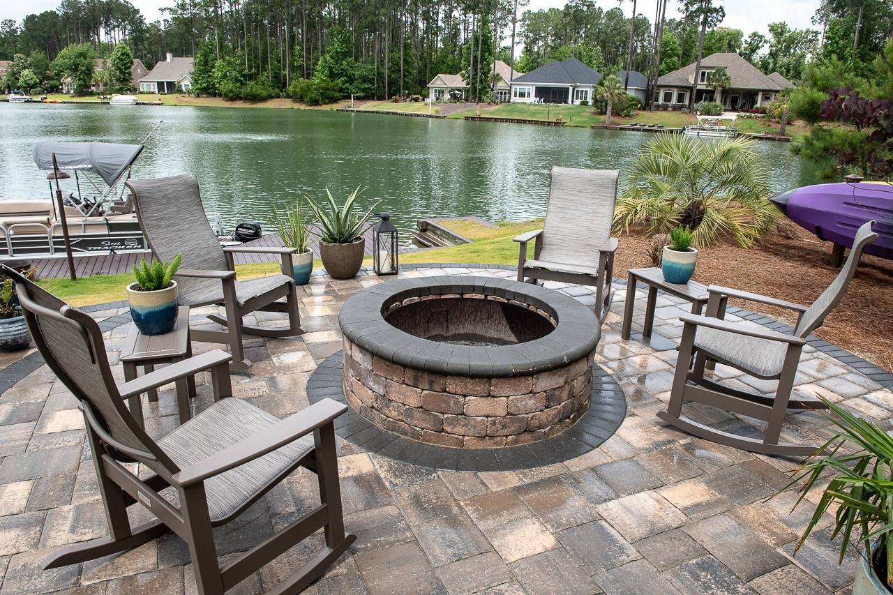 Adding A Brick Paver Fire Pit Is The Perfect Way To Finish Off Your Beautiful New Paver Patio or Pool Deck!