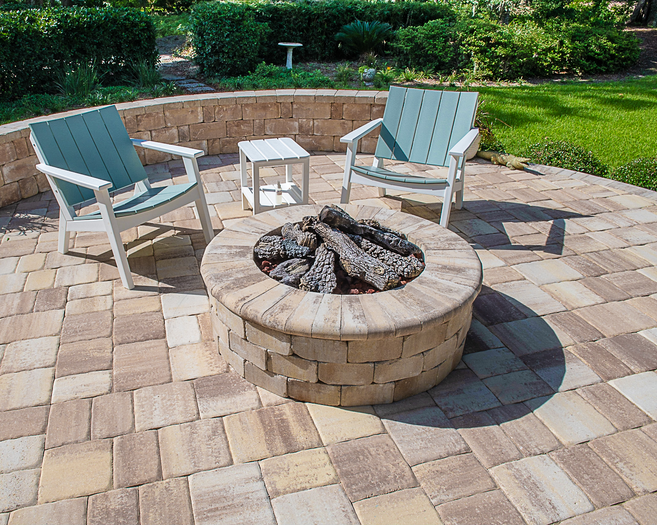Sand Dune Fire Pit Design With Remodel Coping