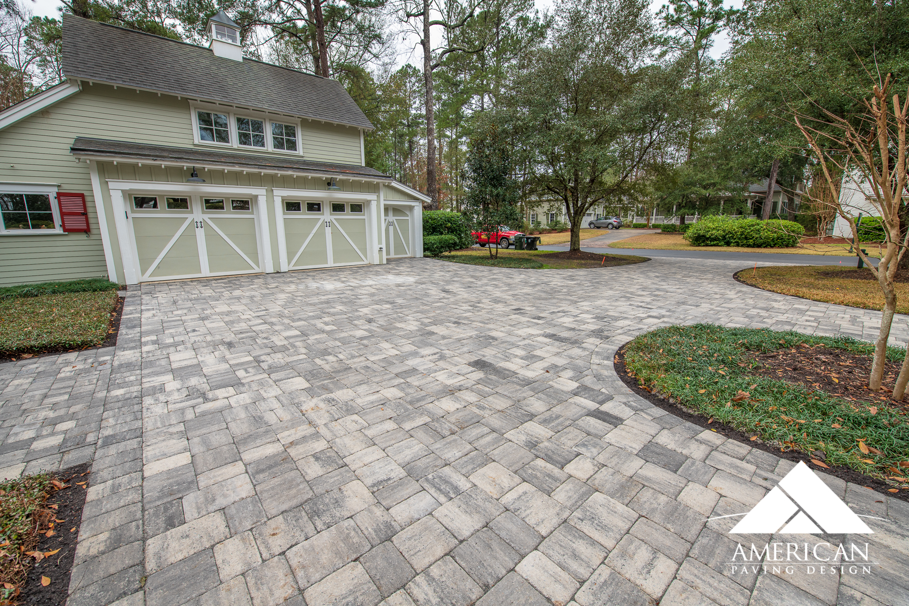 Large Interlocking Paver Driveway Design & Installation
