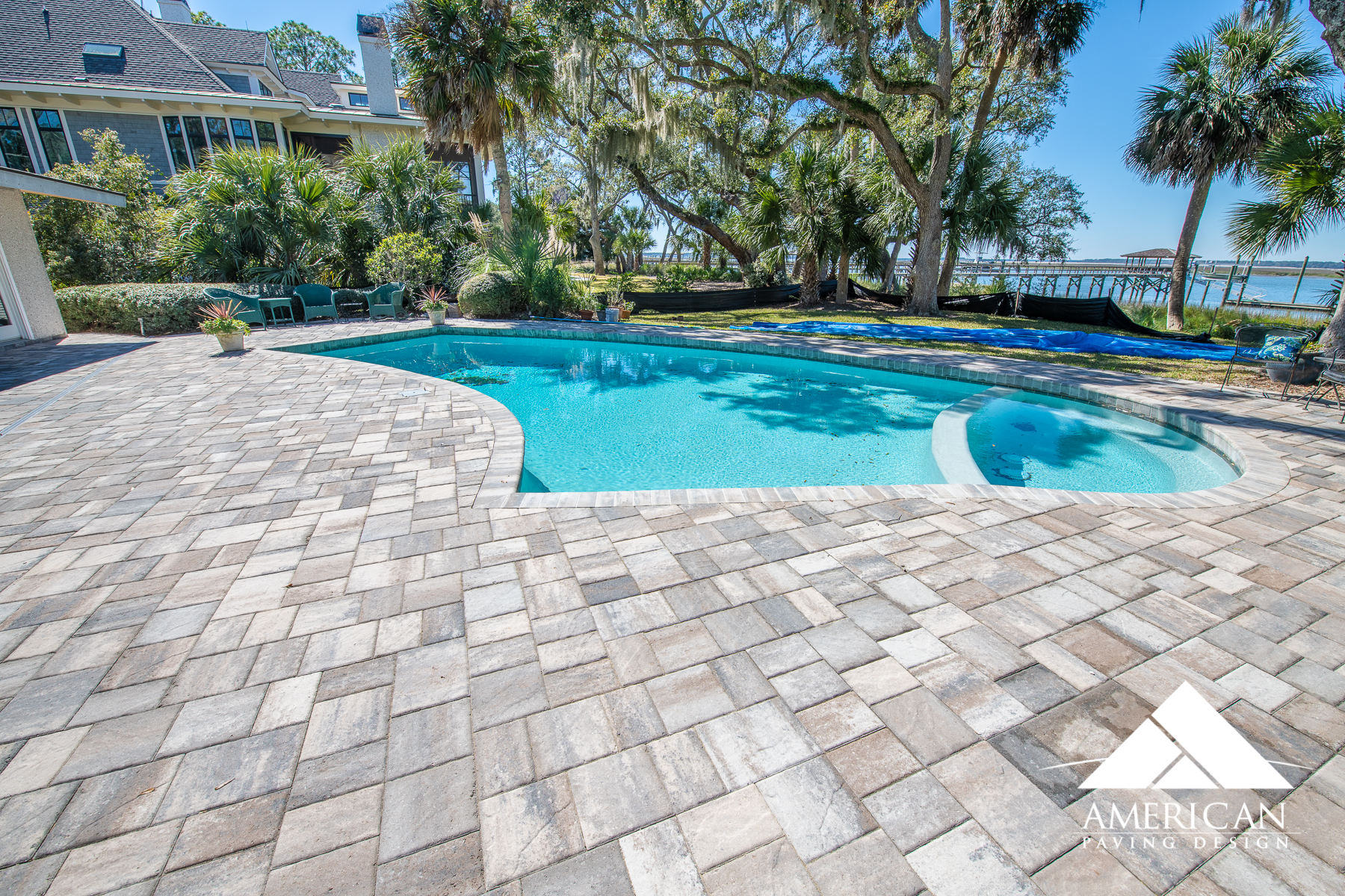 This Tremron, stonehurst remodel pool deck is beyond prestine! Choosing to update your pool deck not only adds value to your home, but makes entertaining more exciting!