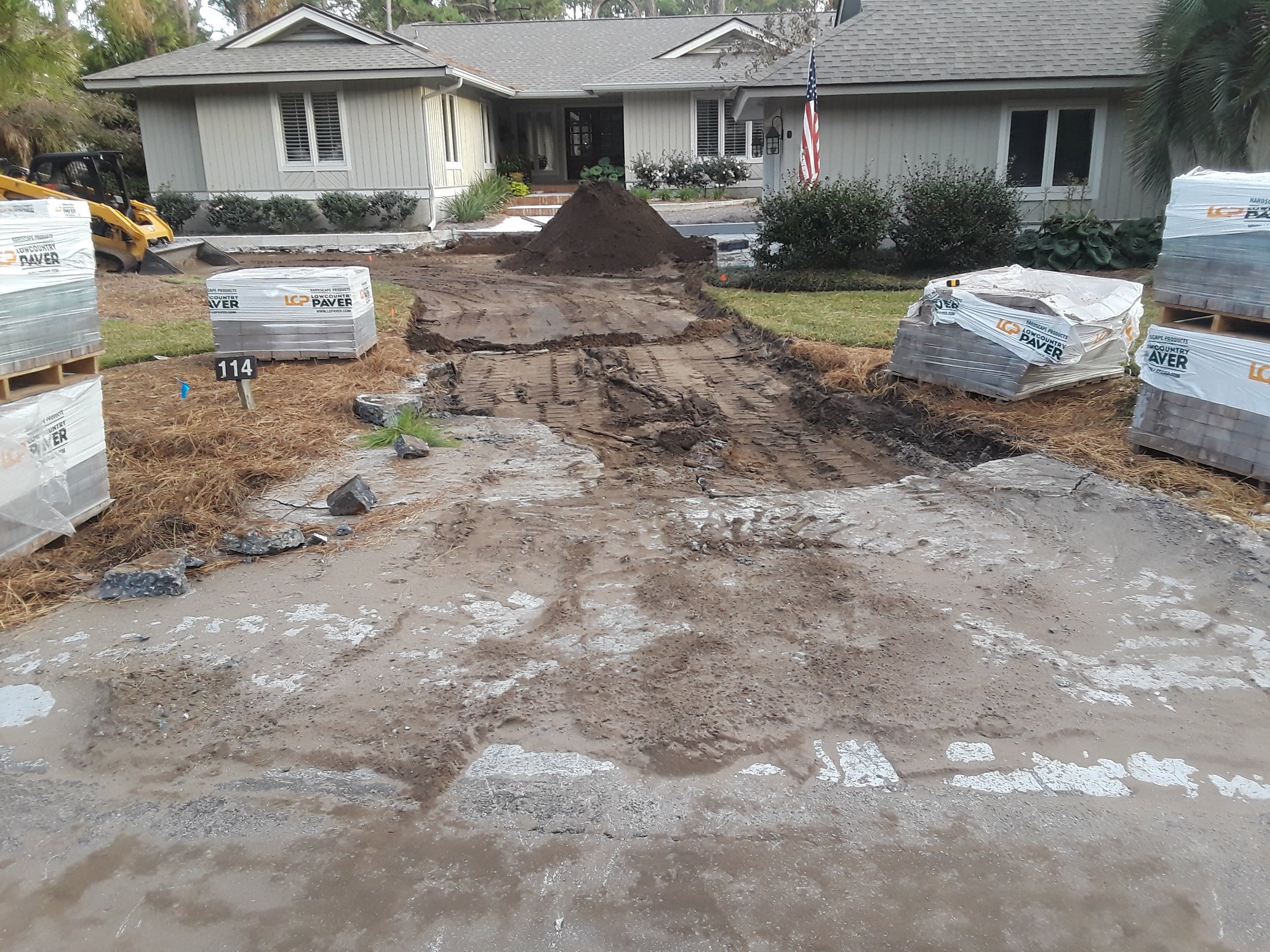 Before: Paver Driveway Transformation
