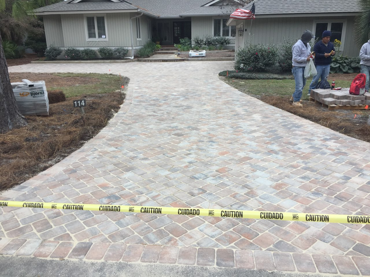 Just Completed: Paver Driveway Design