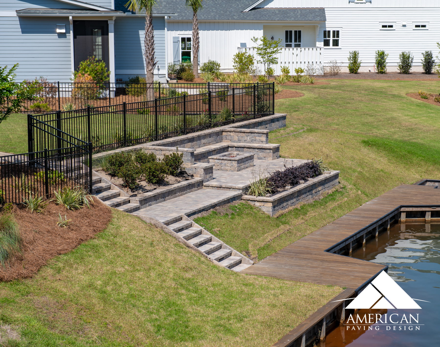 Built to impress, this multi-level paver patio is the perfect place to spend your time. With its tiered stairs and optimal seating space, you can entertain all your family and friends in one spot!