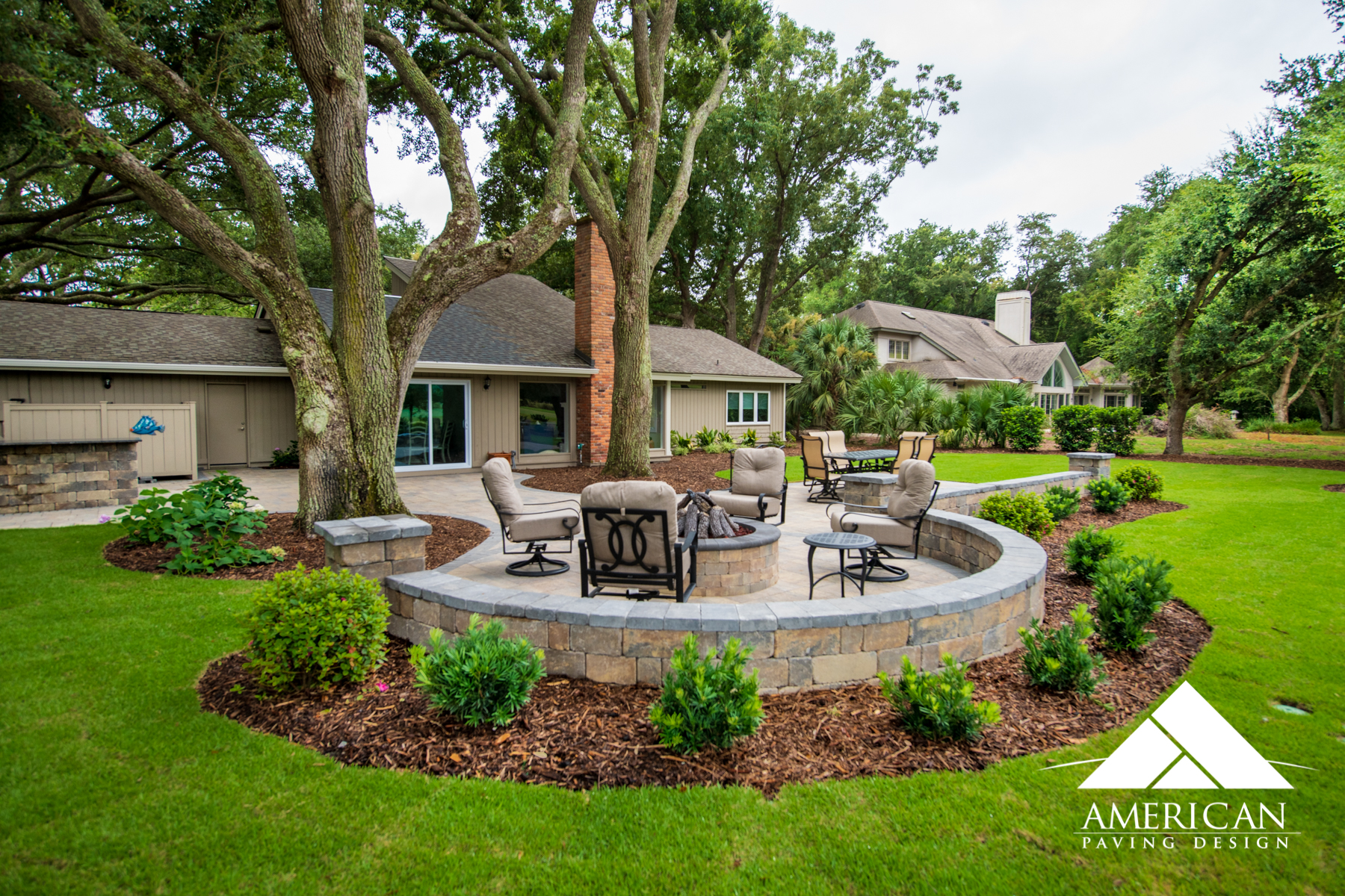 Much like the 3D design, this paver patio is PRESTINE perfection!