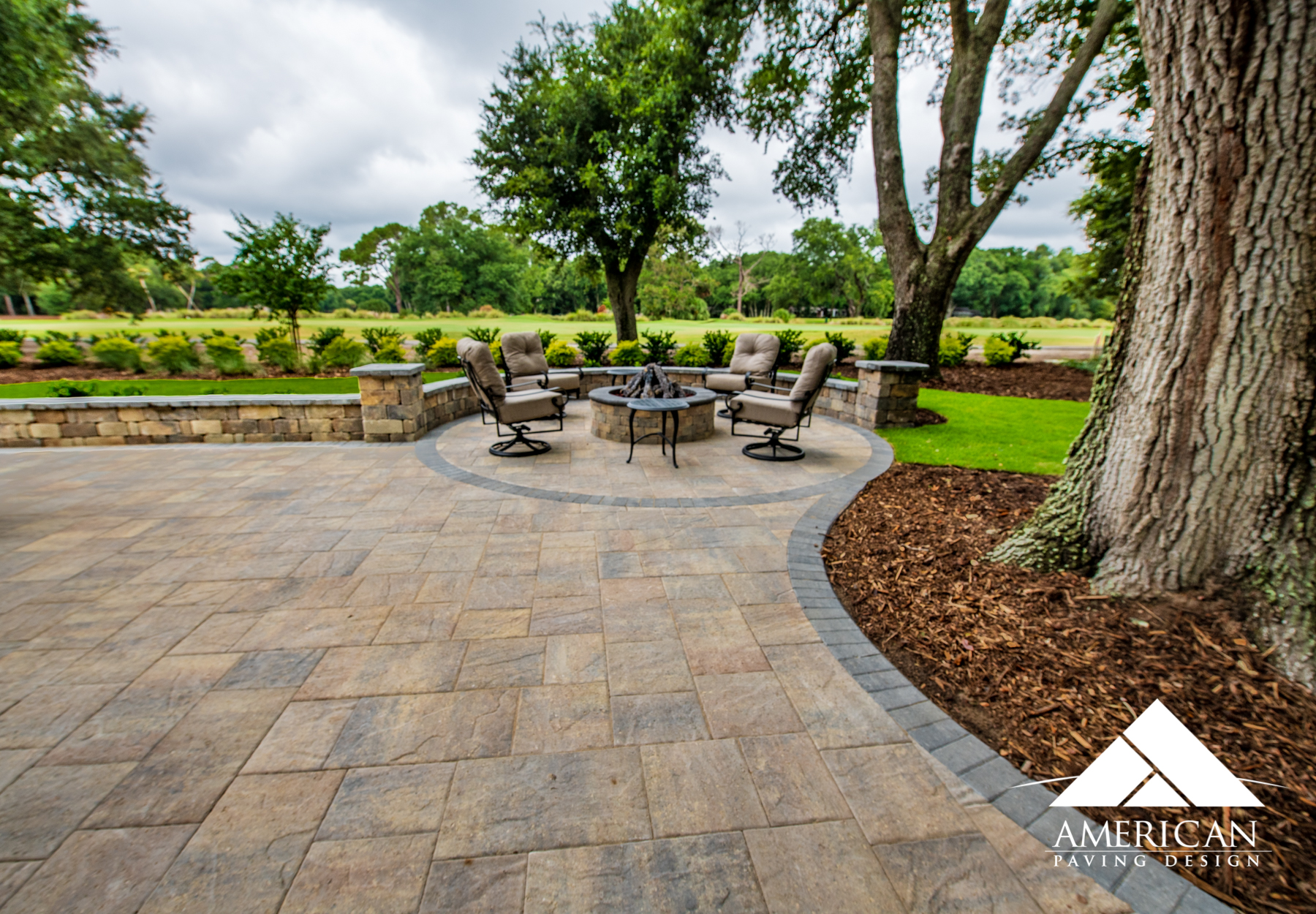 Pavers are great materials for backyard patios. They require little maintenance, withstand weather and come in multitudes of color.