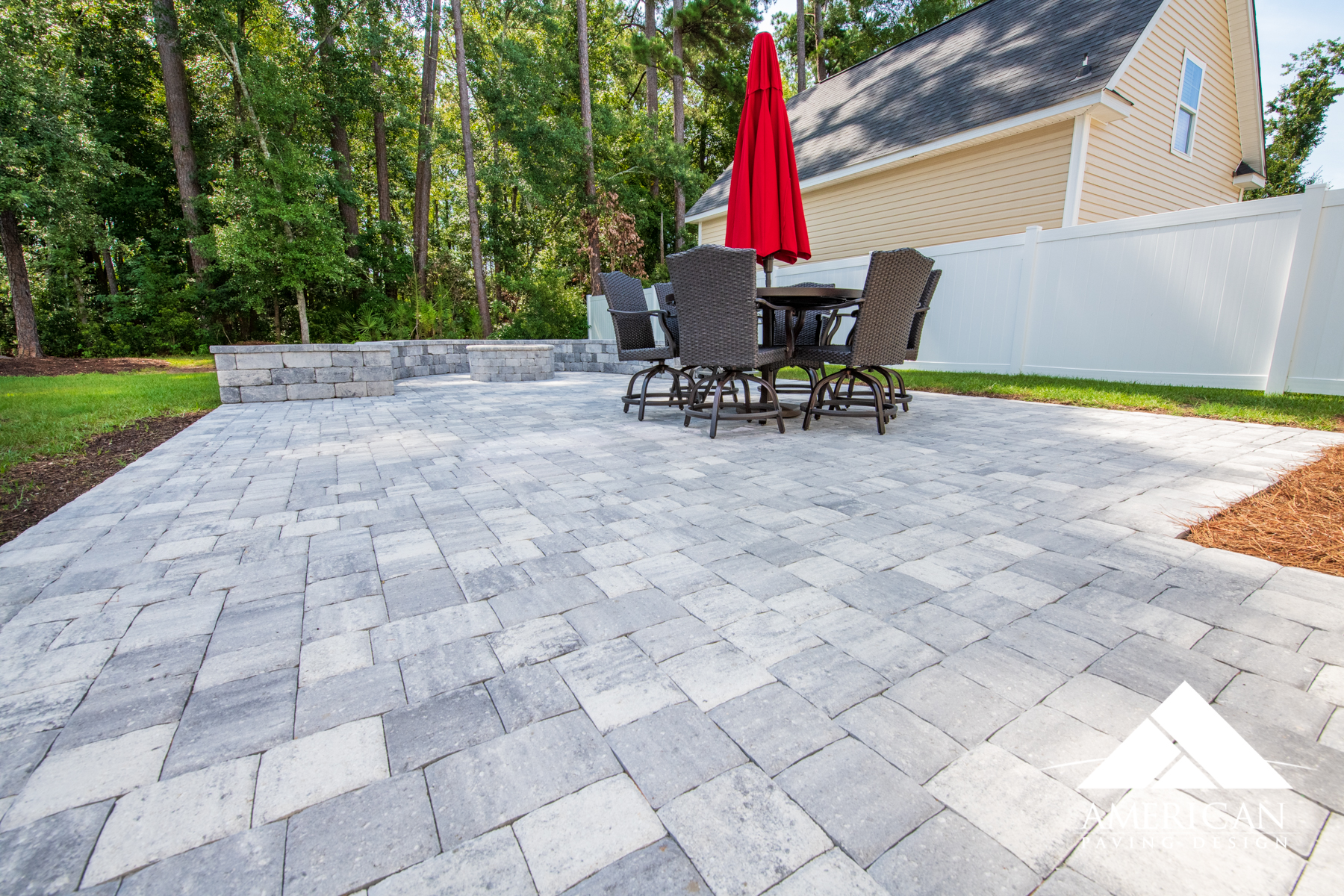 Brick pavers  offer a smooth surface that is not only durable but incredibly appealing! These interlocking bricks are easy to repair and clean!