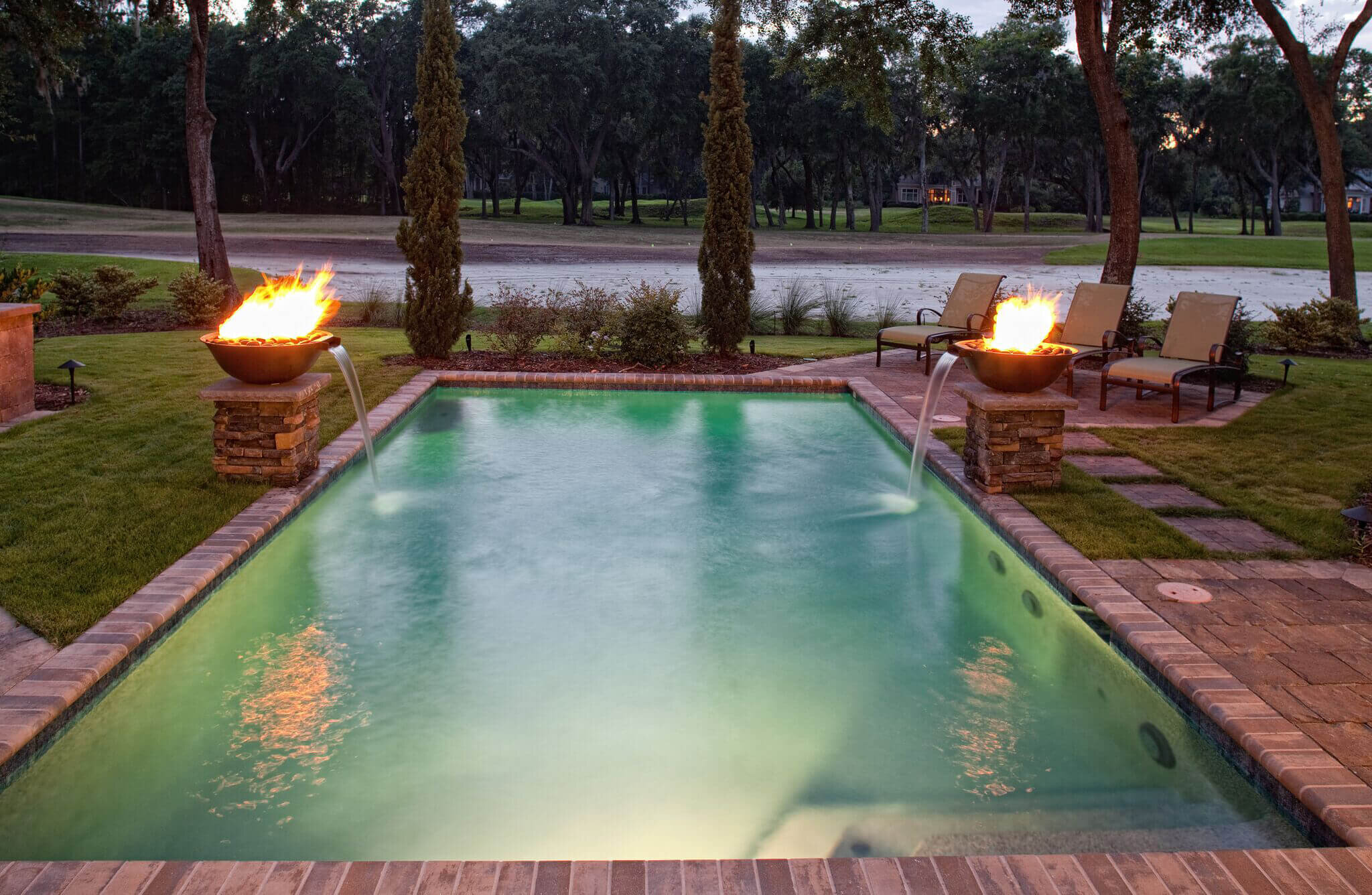 Backyard Pool Deck Designs - Hilton Head Island, SC