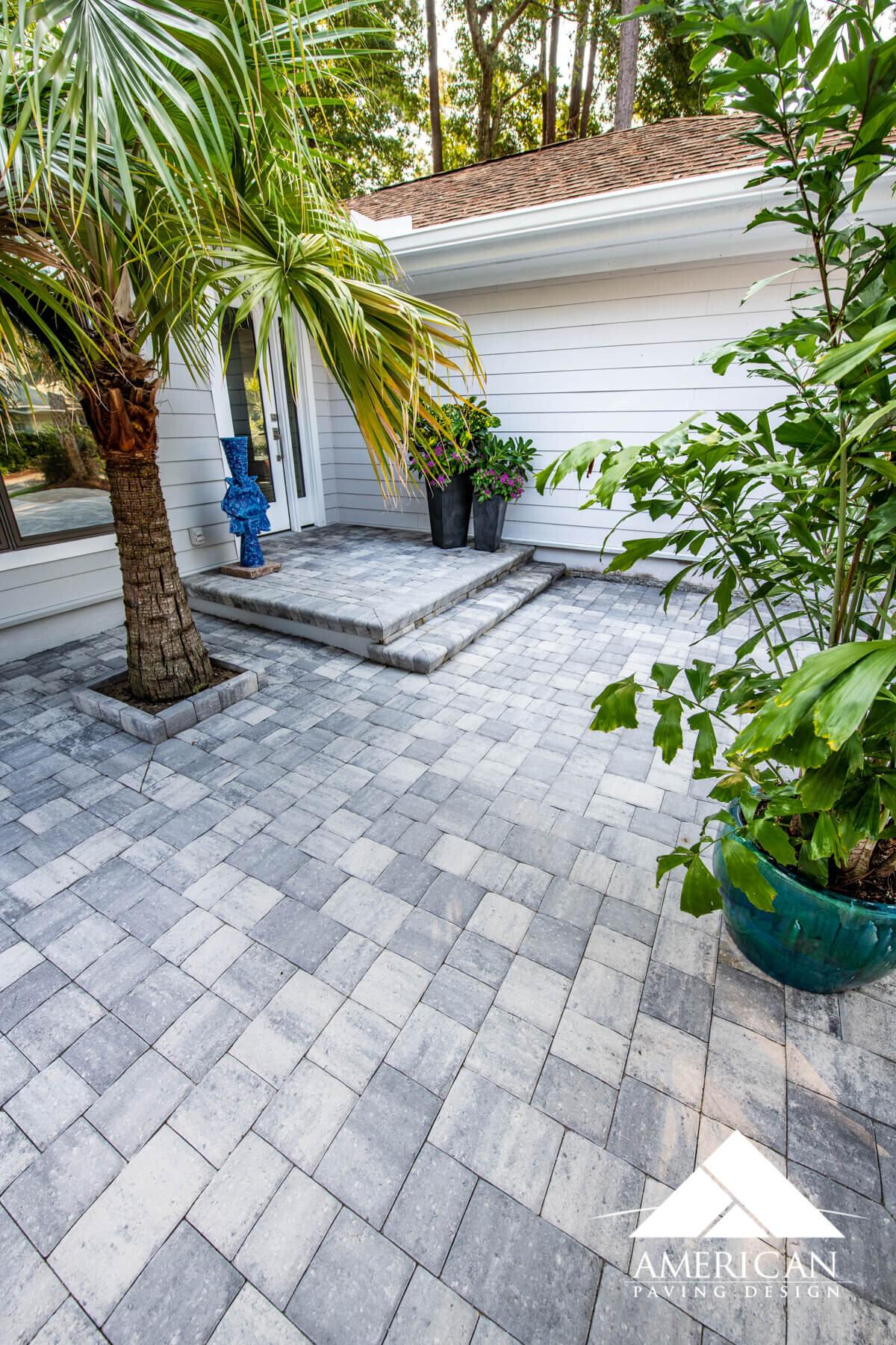 Grey Paver Step Ideas - Hilton Head Island, SC