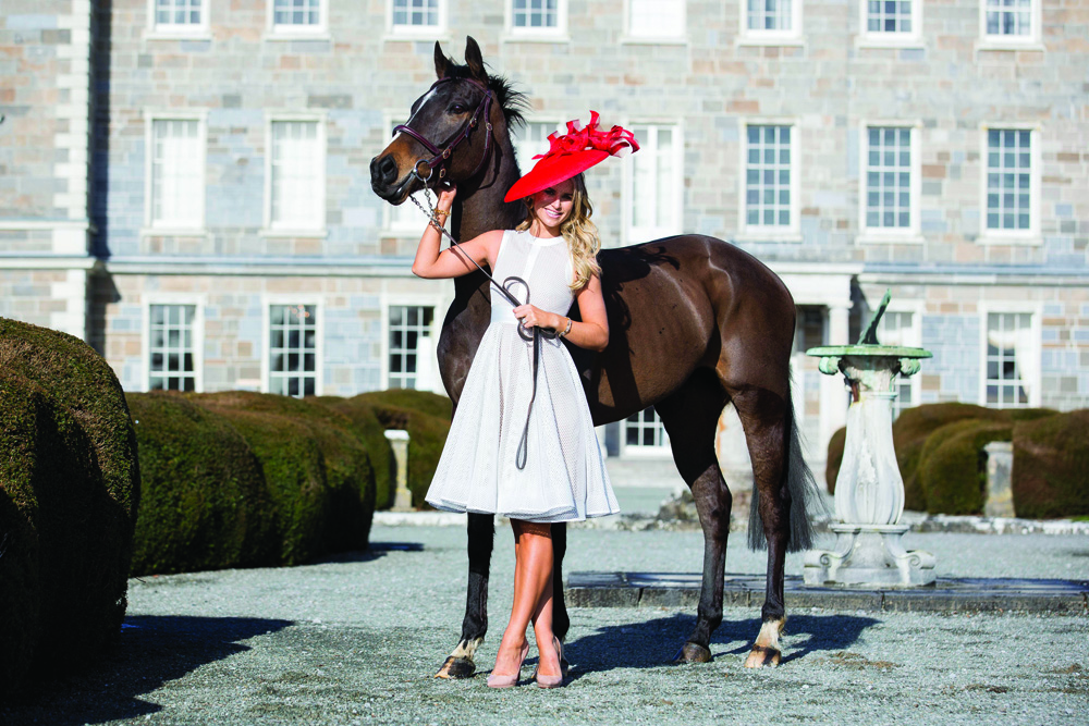 Vogue Williams helps Carton House get ready for Ladies' Day