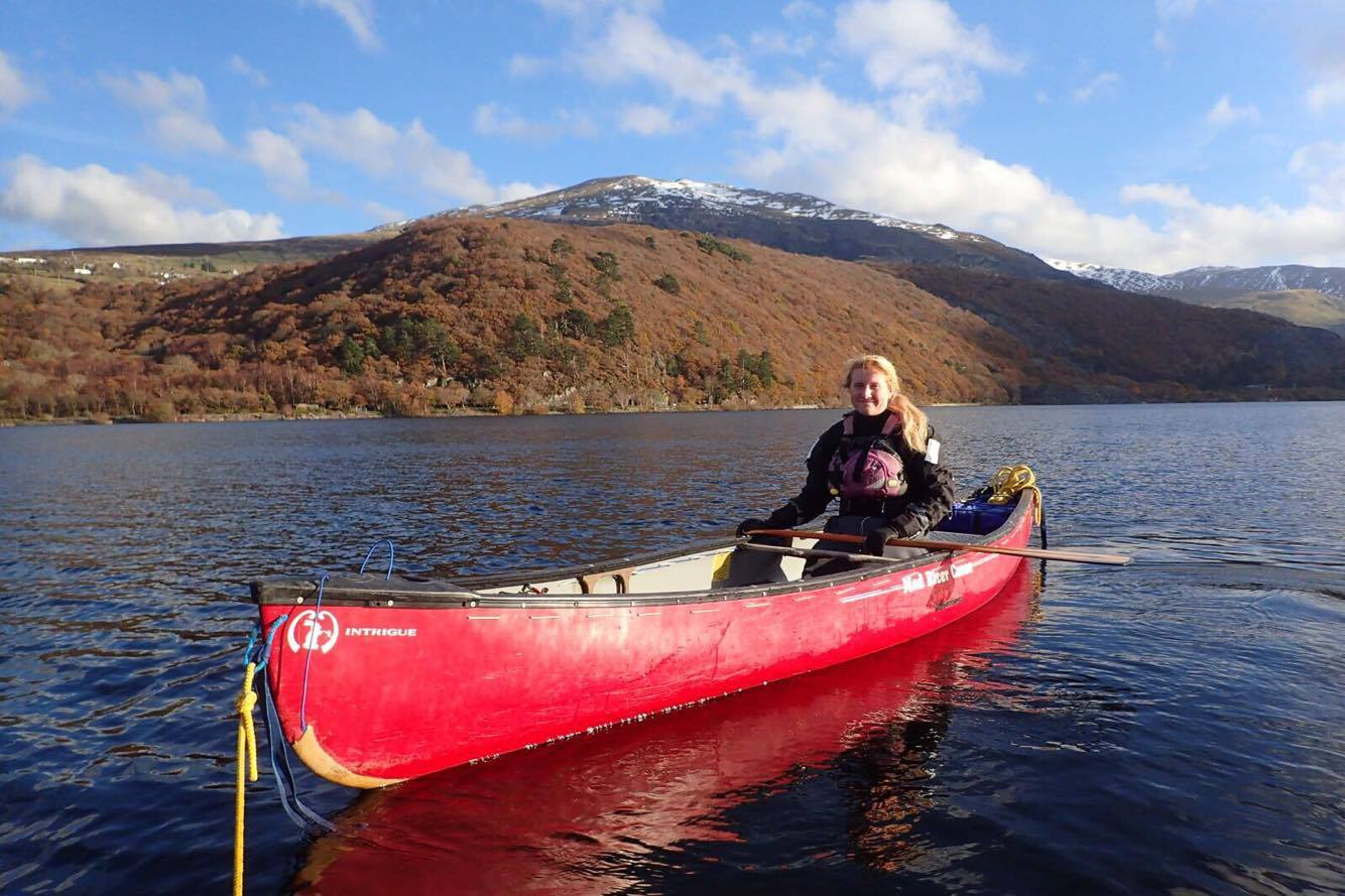 Making waves - Katie Harris out on the lake
