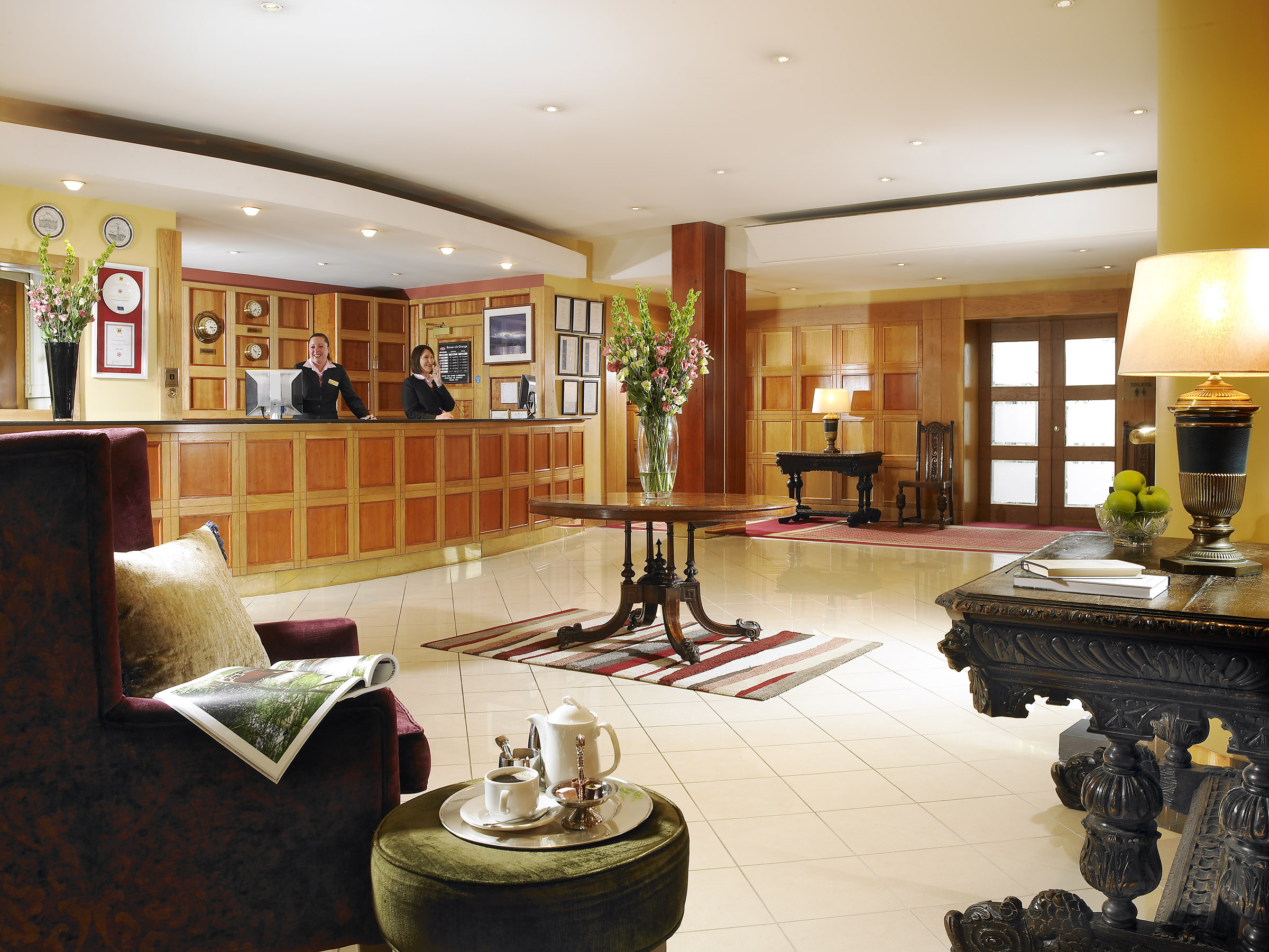 Reception at Hotel Westport.