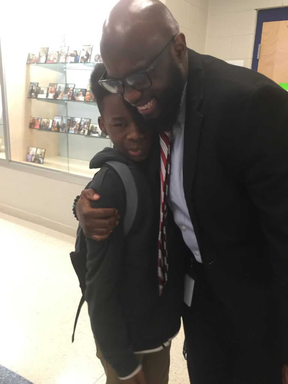 Principal Goodman With One Of His Scholars