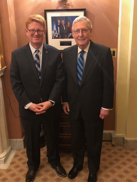 Ross meets with Senator Mitch McConnell