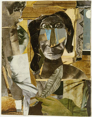 Romare Bearden.  Conjur Woman . Collage, 1964. Private Collection.