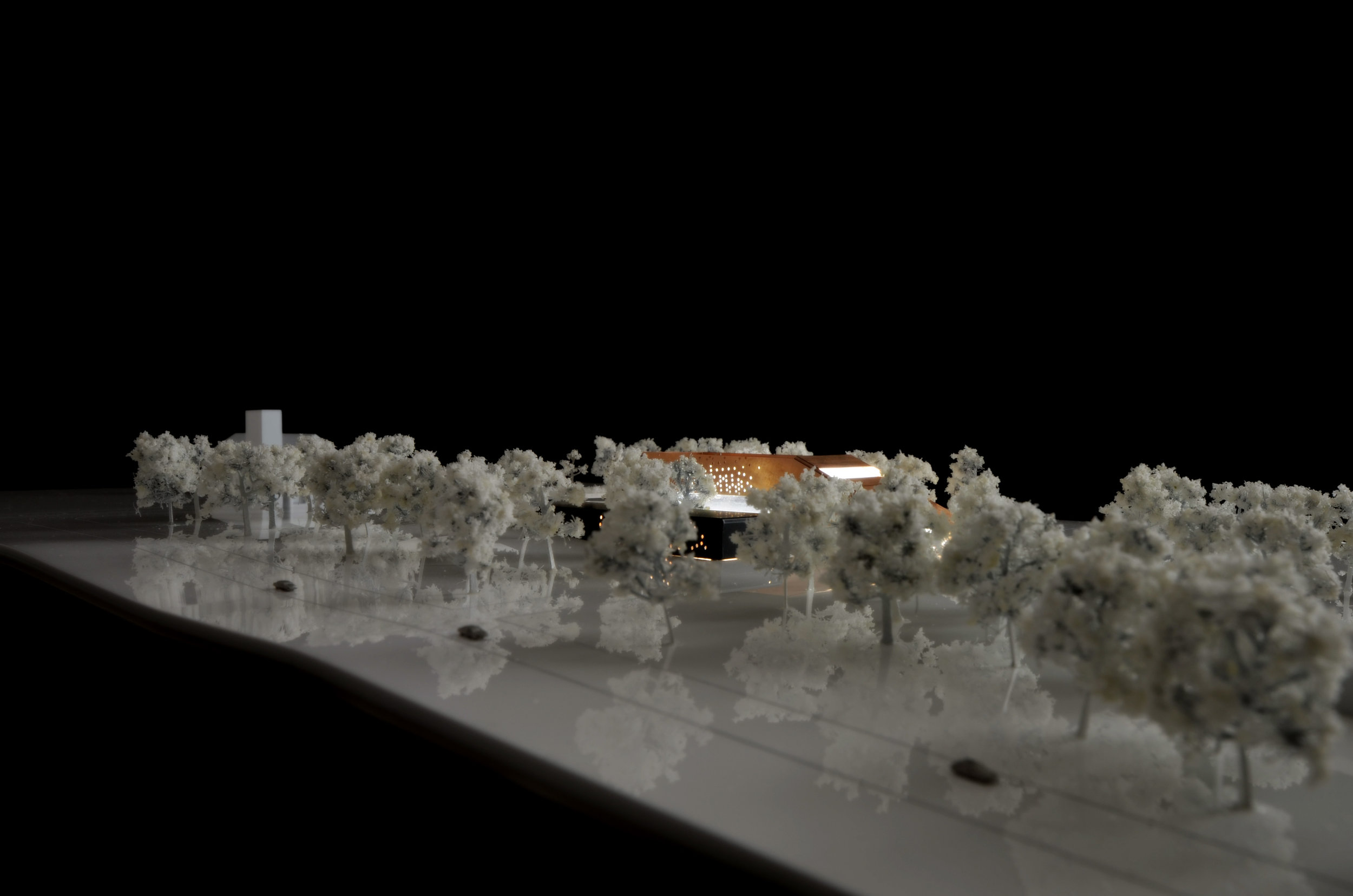 Photograph of Provincial Government Offices 1:1,000 scale physical model