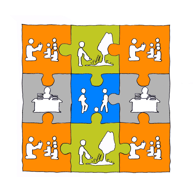 L'ecole puzzle school sketch
