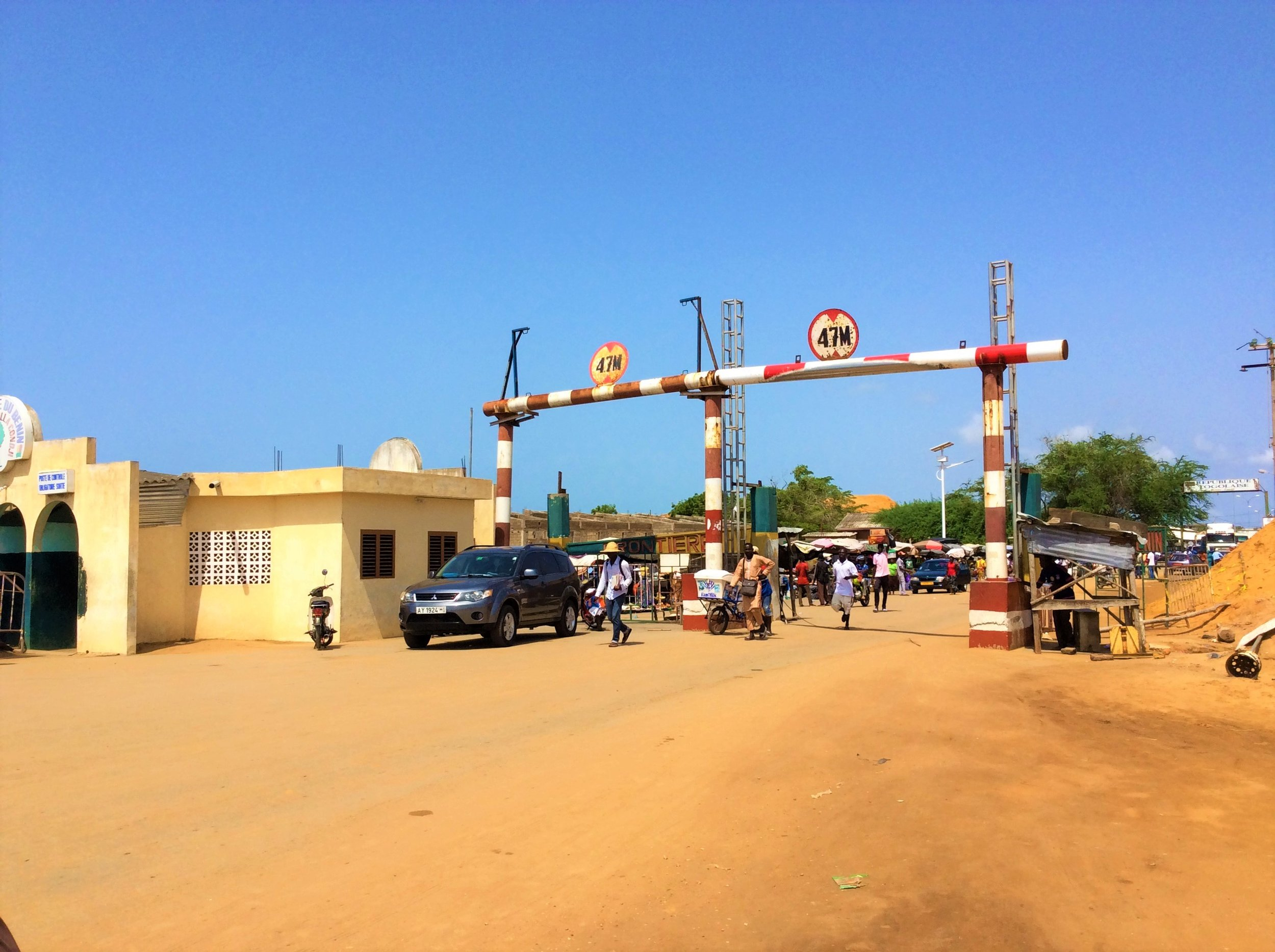 The infamous Lome border.