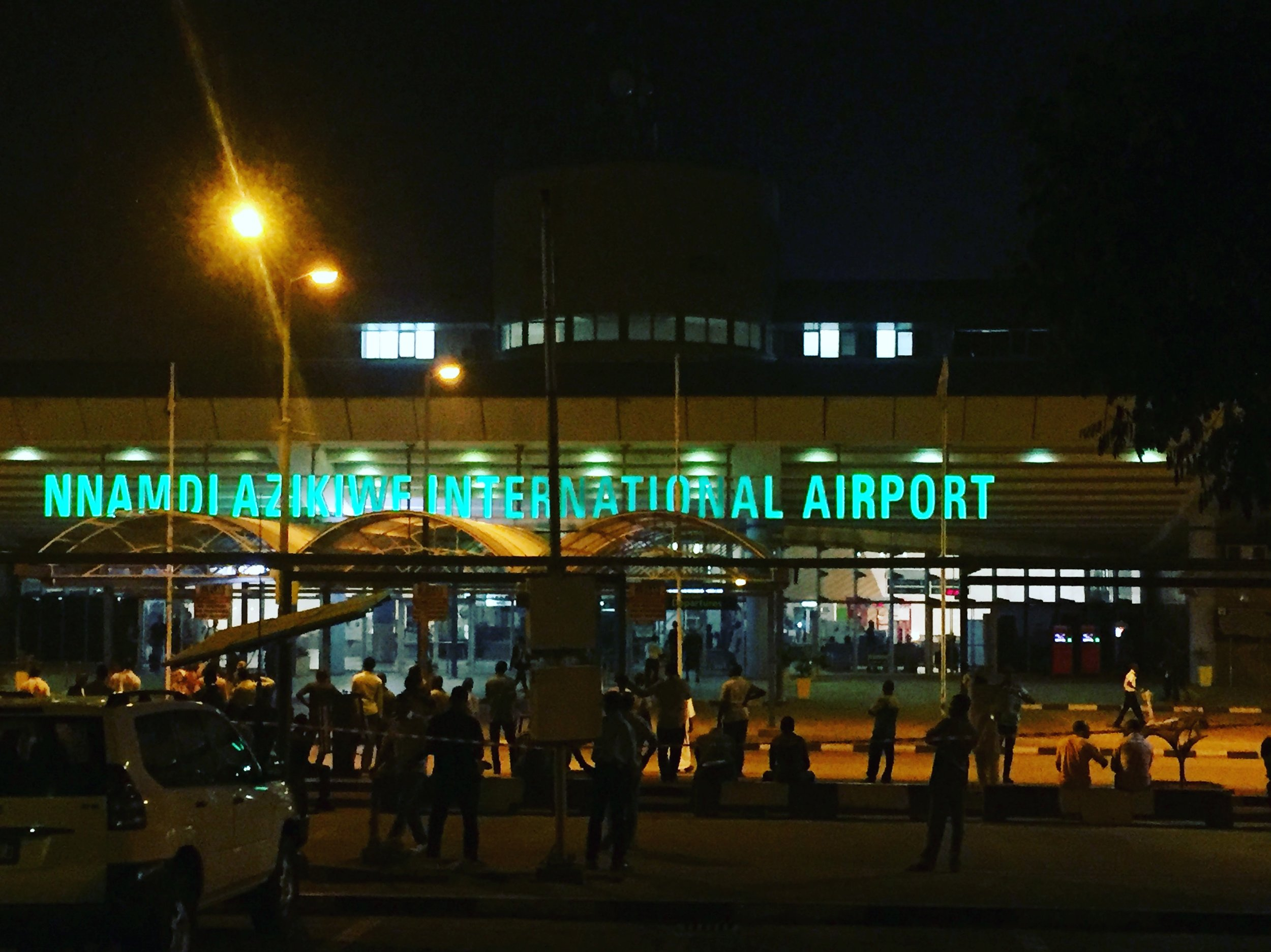 THE AIRPORT AT NIGHT