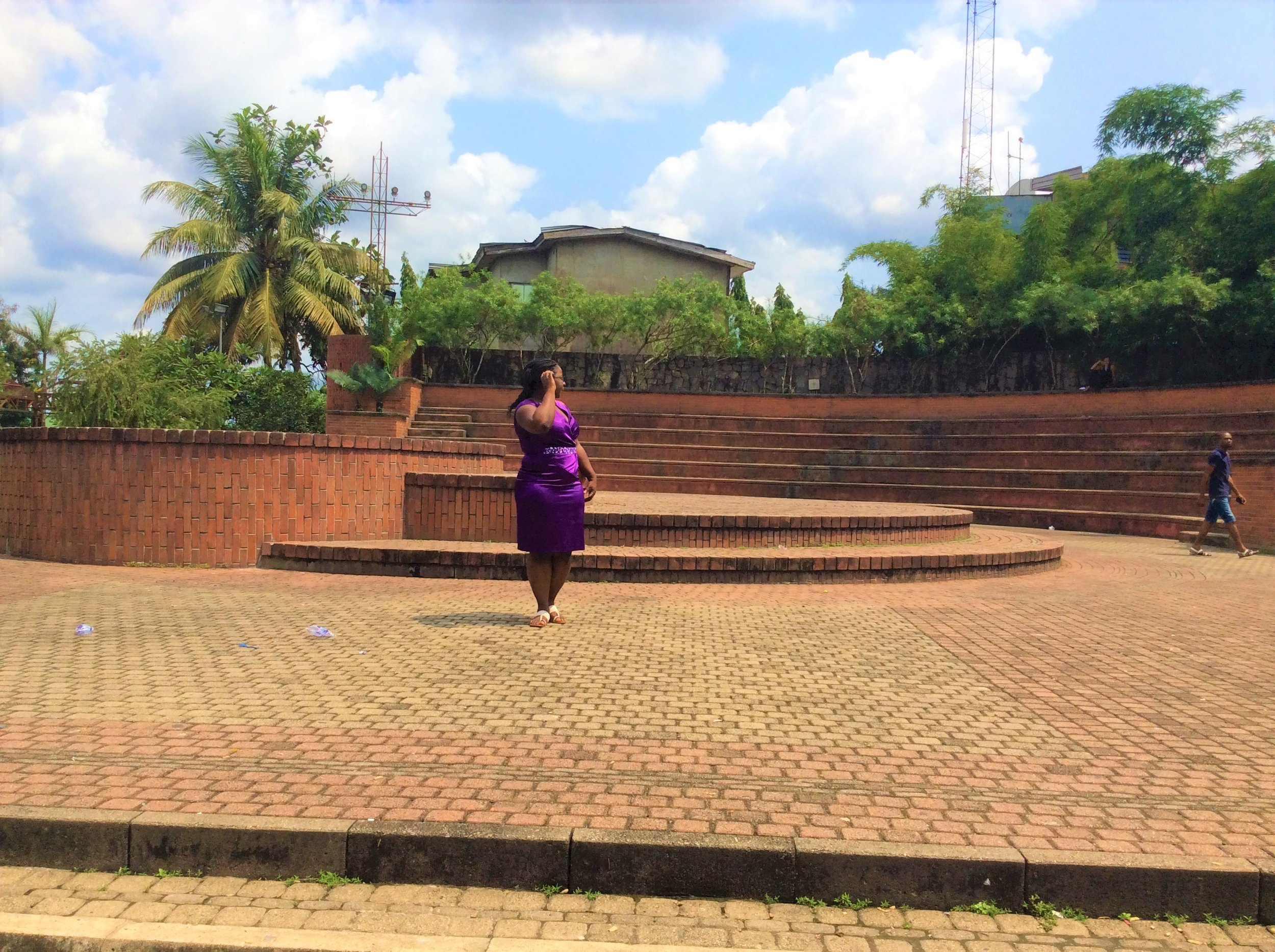 IBOM PLAZA. This is a relaxation area at the ever busy plaza.