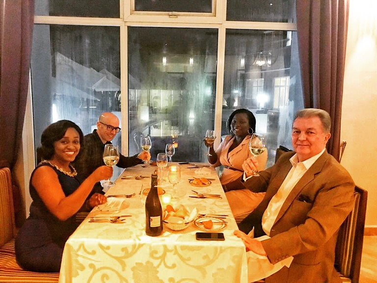 French cuisine dinner in an amazing company