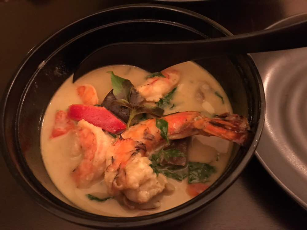 Green prawn curry