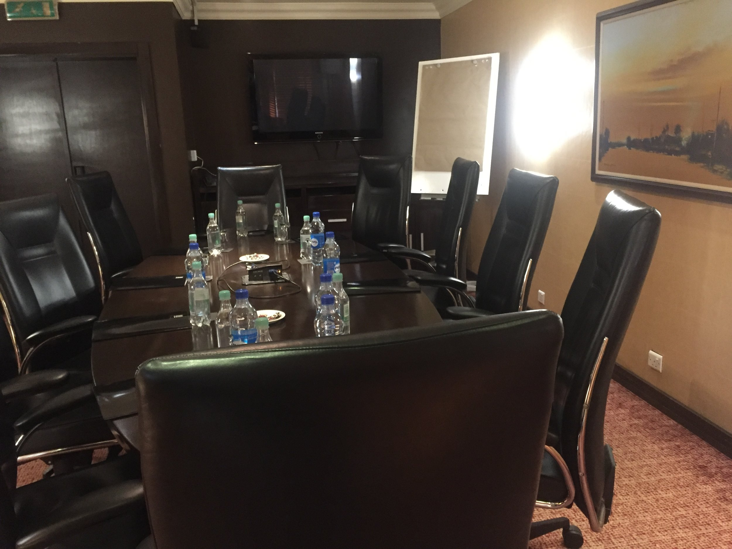 The board room with a 10-man sitting capacity