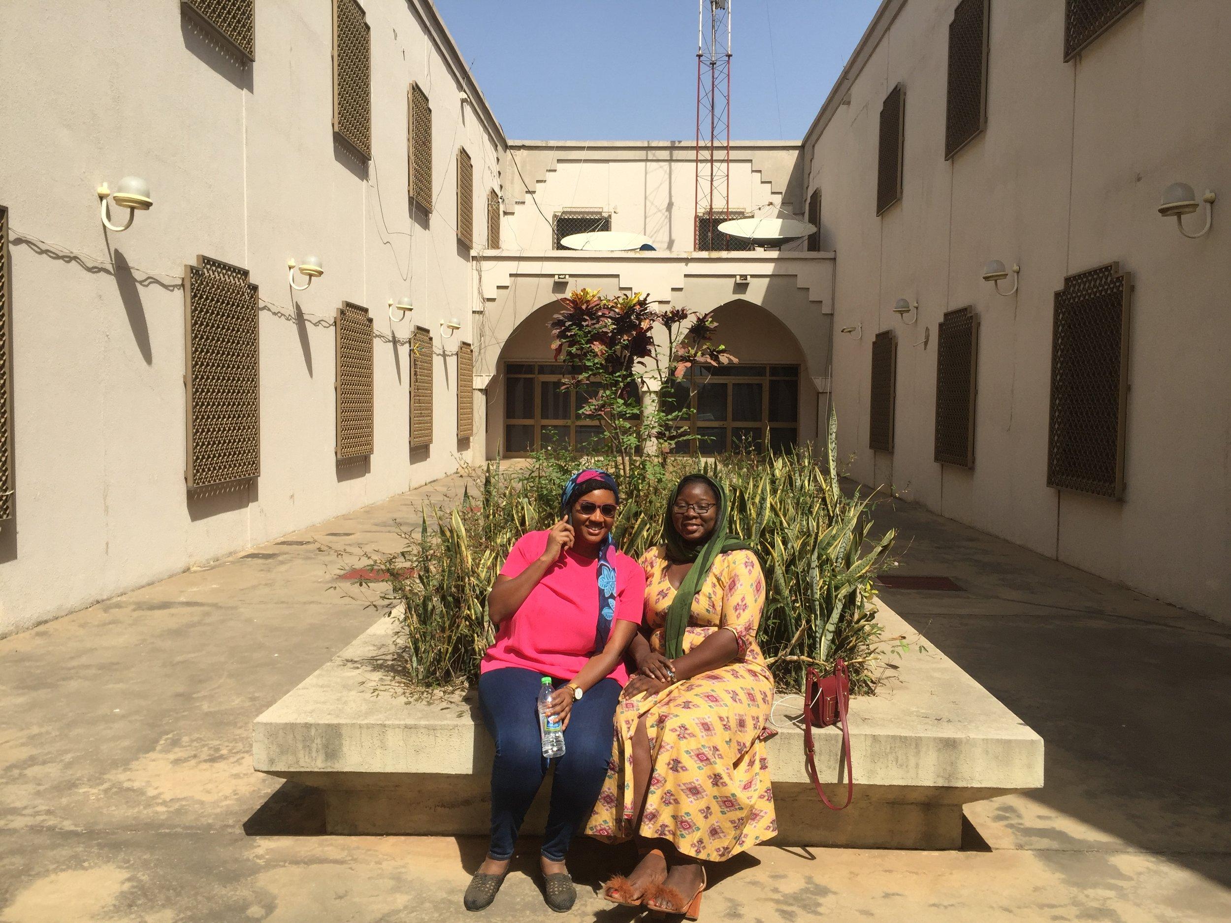 Hasana (a colleague)and I