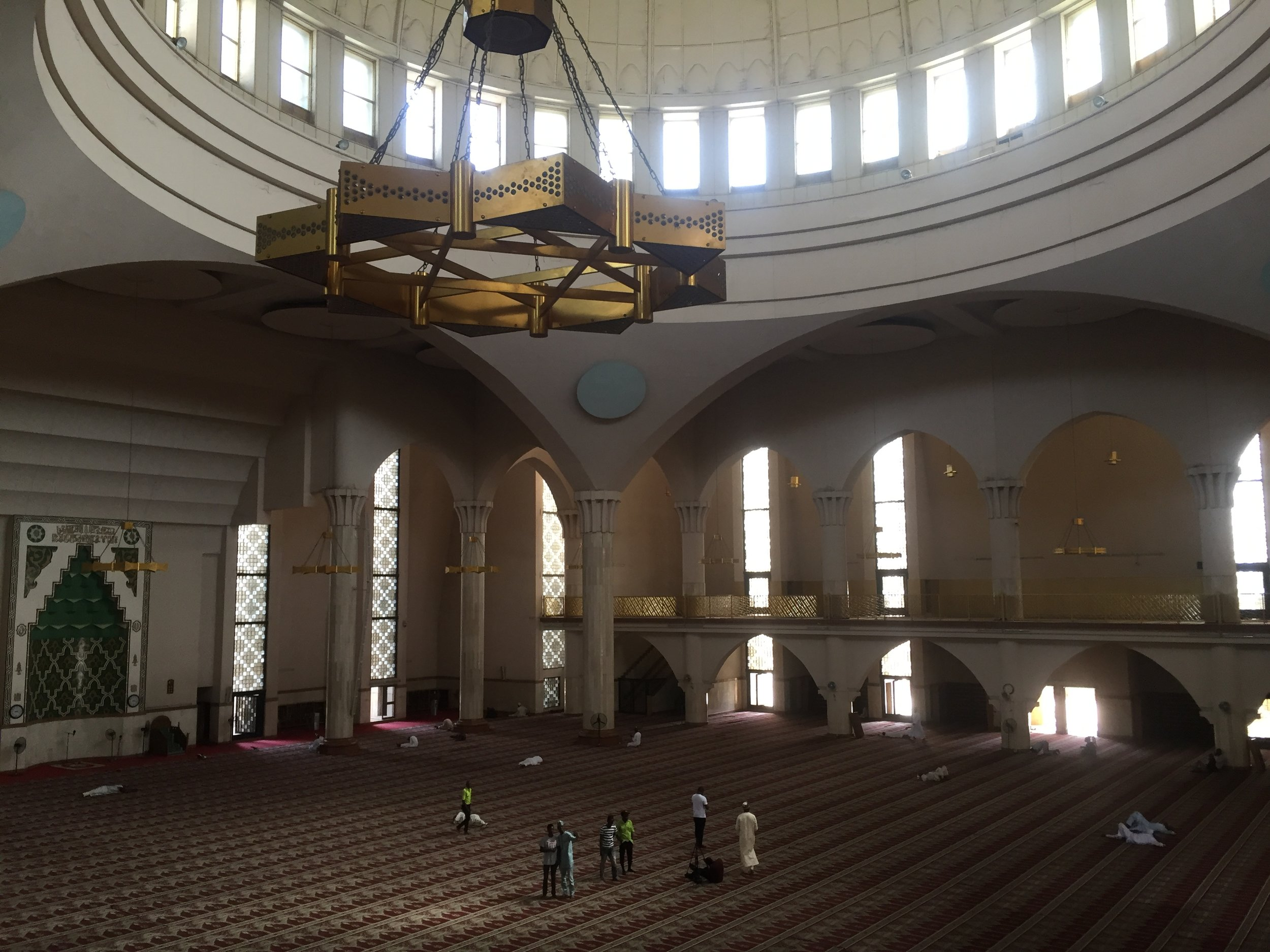 The Interior. Below is the prayer area for the men
