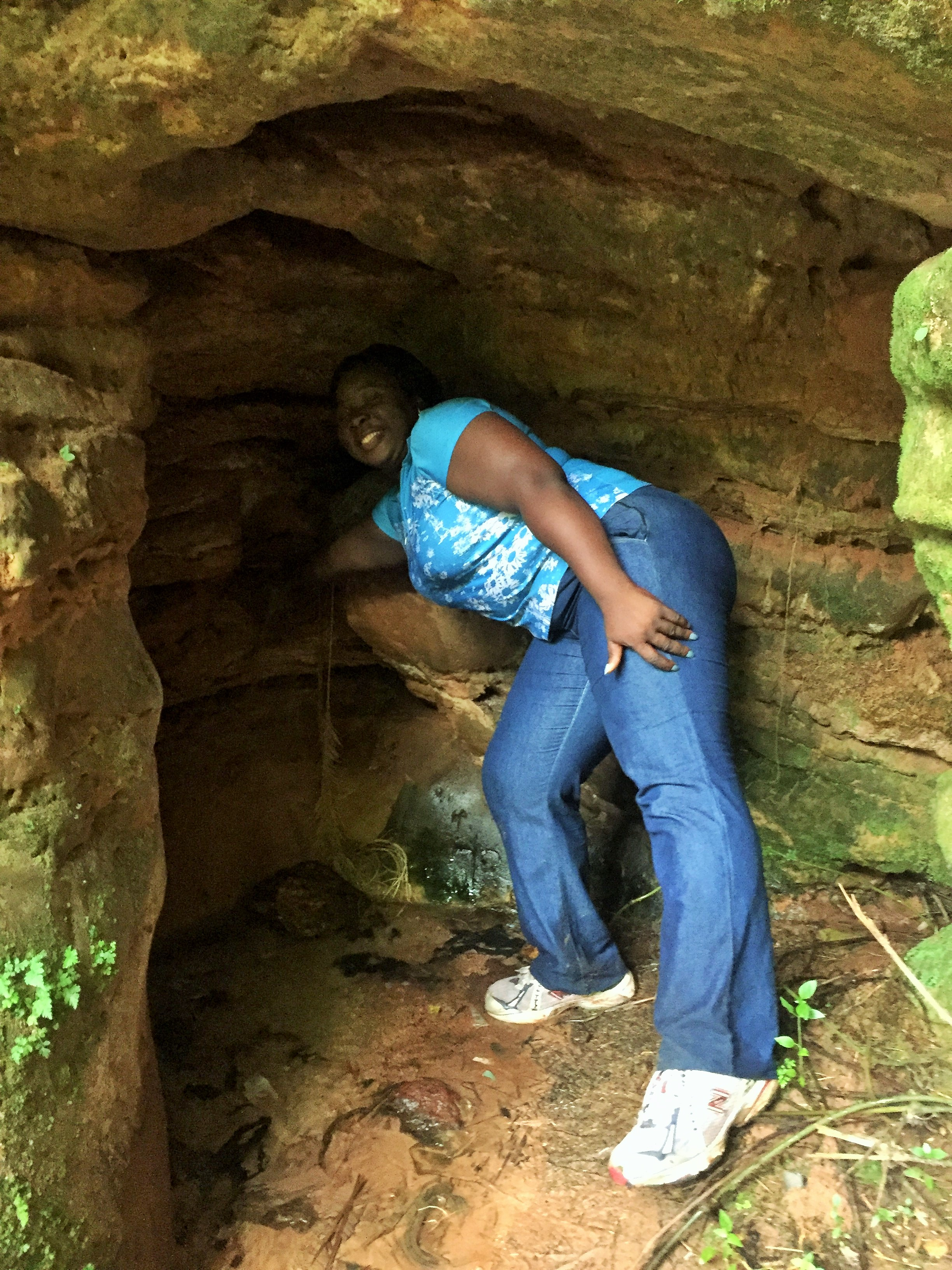 NGWO PINE FOREST | The lady told me a cave was in there and that I should go in. Mbanu! but let me take a picture