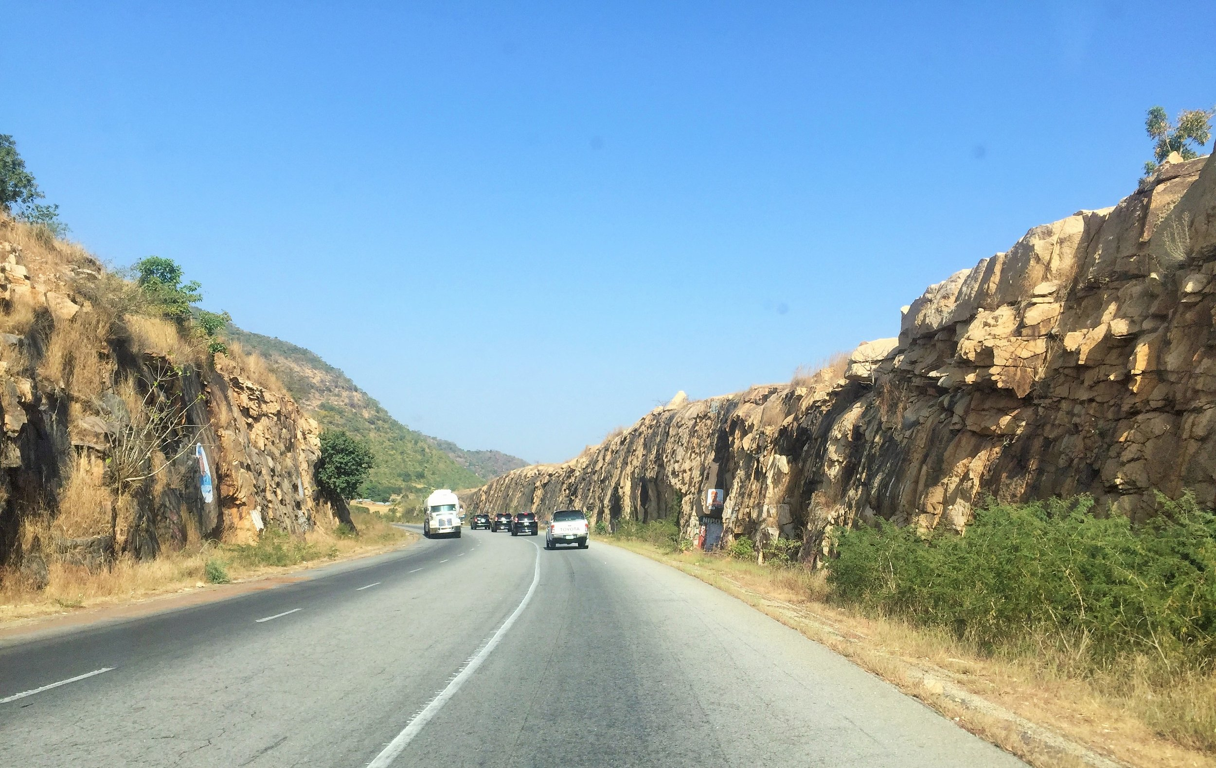 Road from Jos to Bauchi