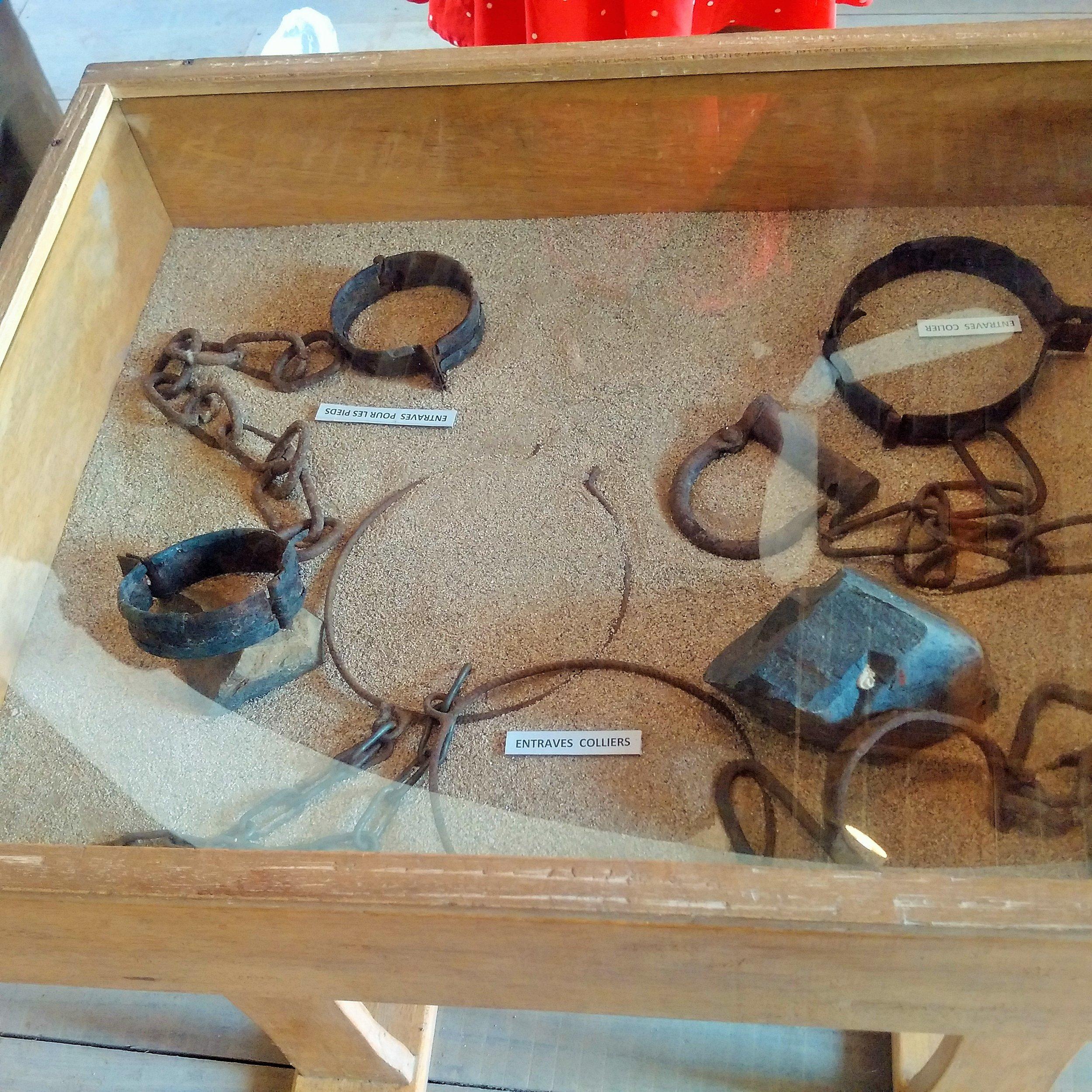 Chains used to keep slaves captive | Goree Island