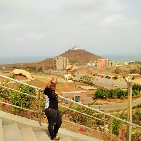 View of Mamelles lighthouse from African Renaissance Monument