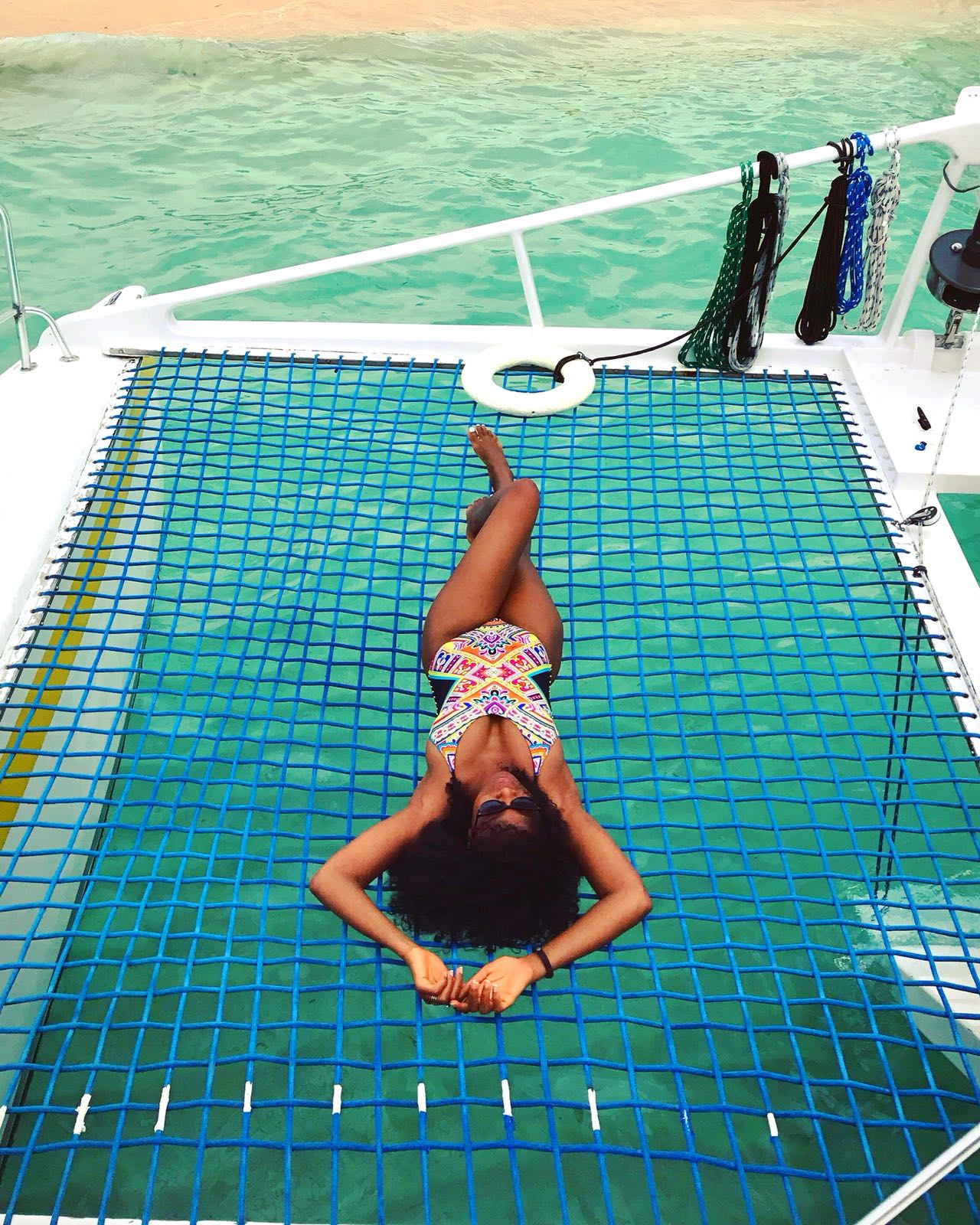 Isla Cacos   burning 😂😂 on a catamaran