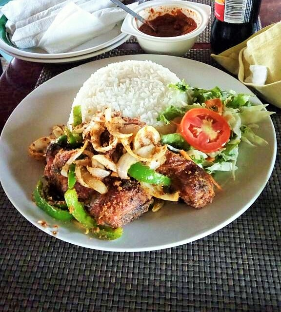 Dining in Accra