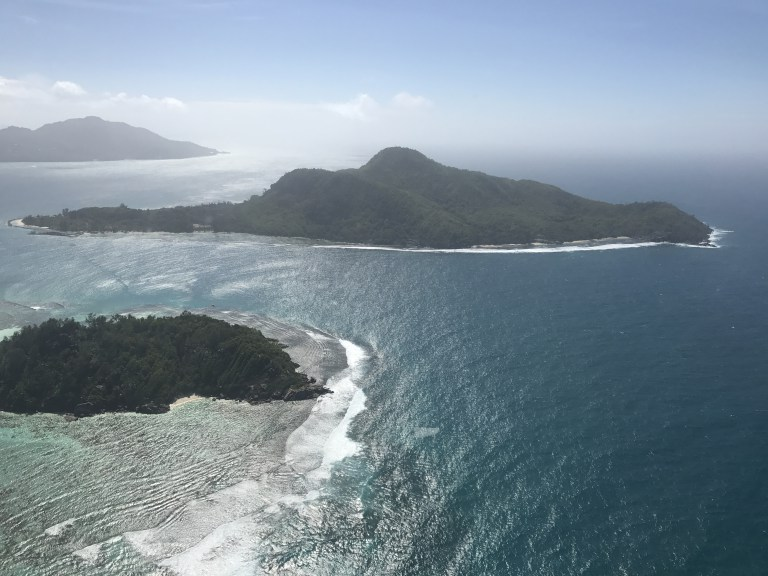 Aerial view of Mahe