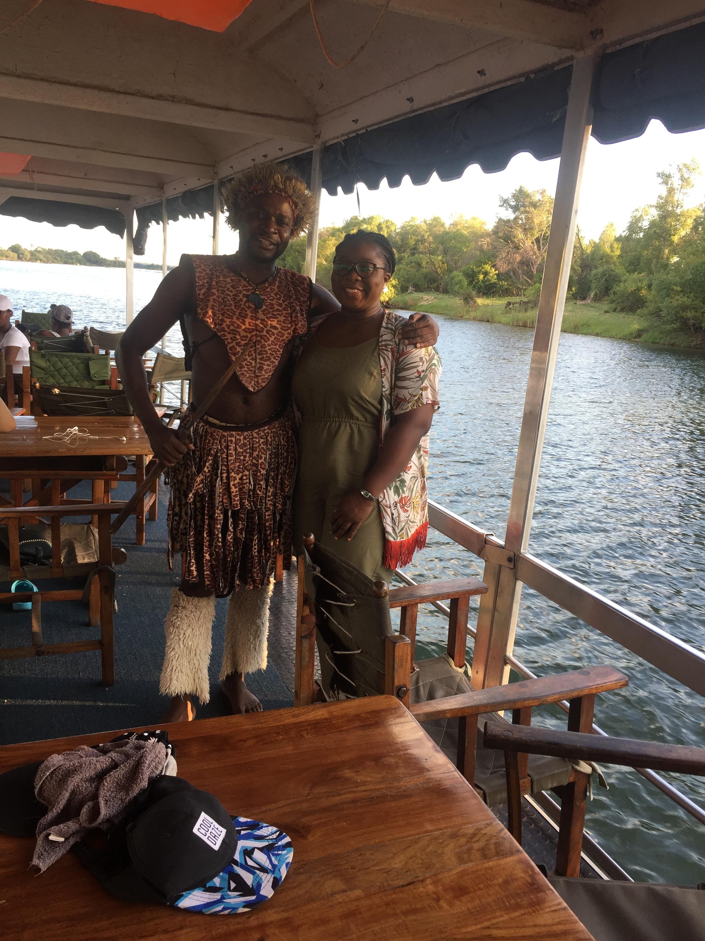 SUNSET DINING ON RIVER ZAMBEZI